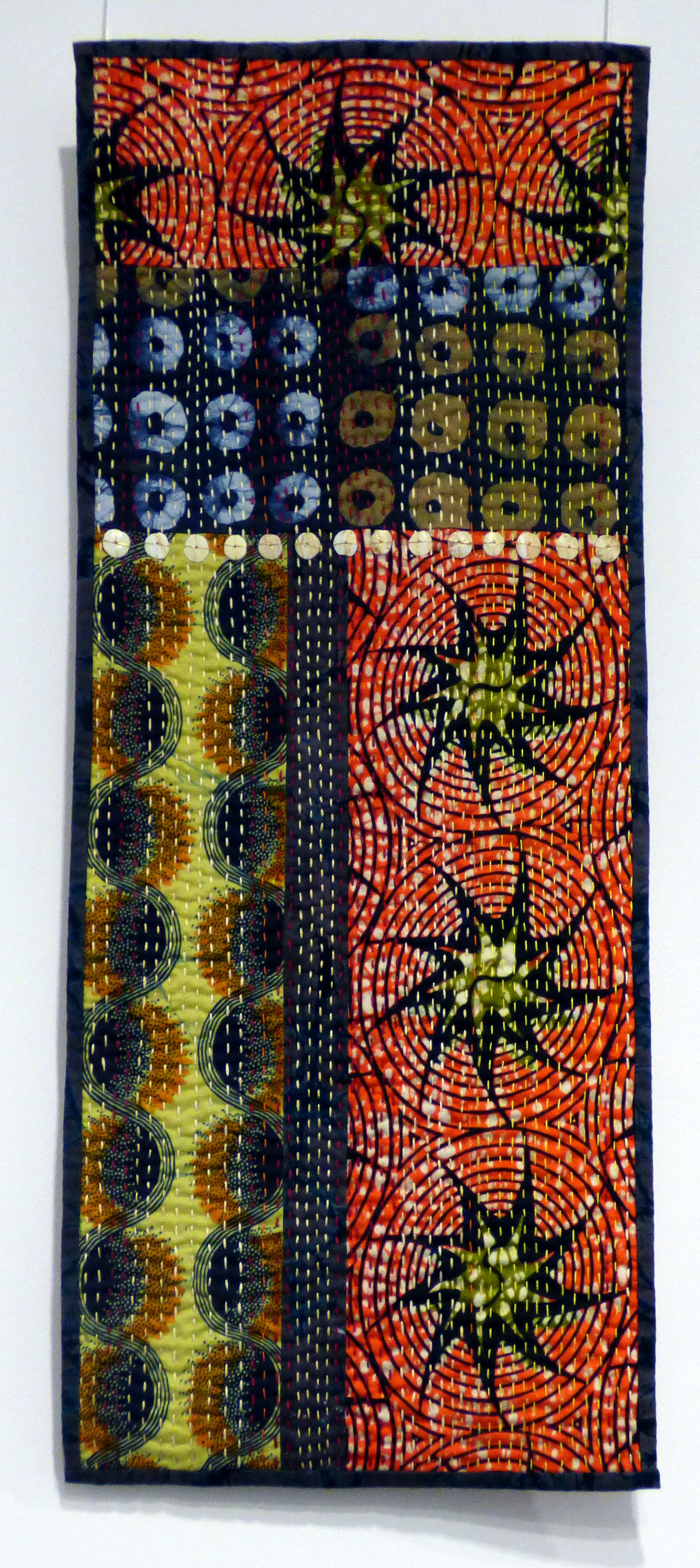 RHYTHMS by Sylvia Wood, quilted hanging, Ten Plus @ The Atkinson 2018