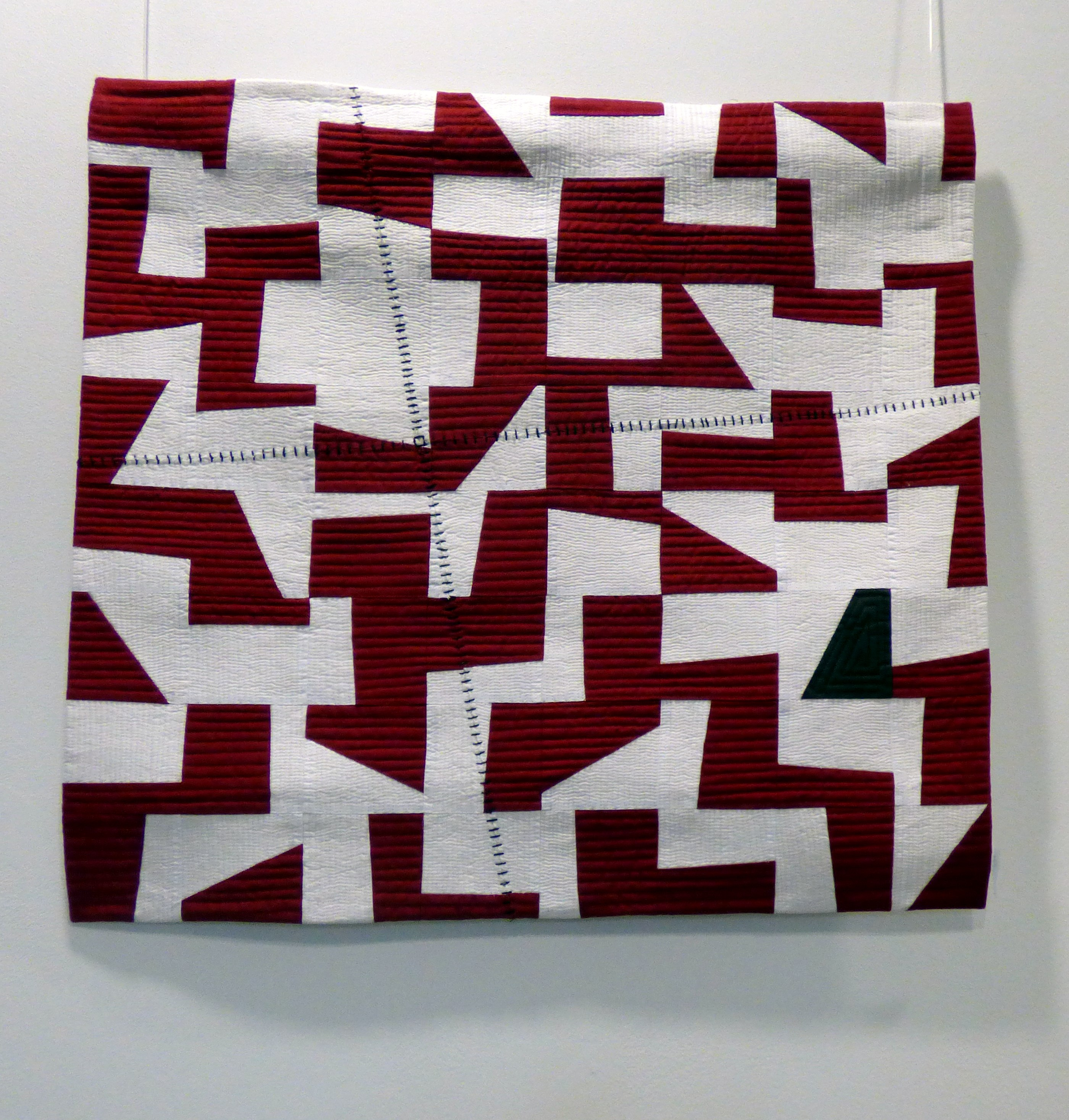 PERSONAL LANDSCAPES- FRAGMENTS by Linda Bilsborrow, machine pieced and quilted, Ten Plus @ the Atkinsin, 2018