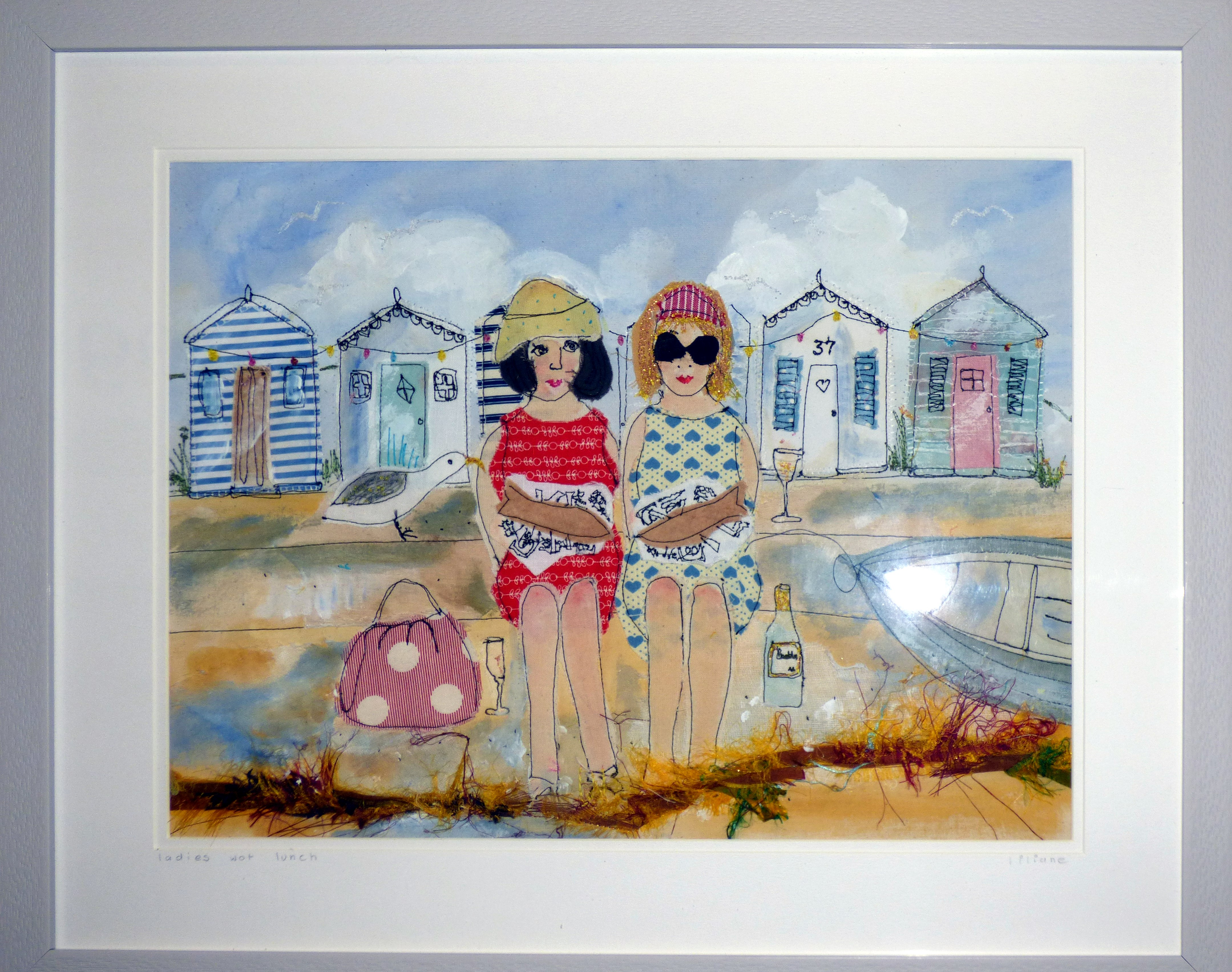 LADIES WHAT LUNCH by Liliane Taylor, stitched picture, Ten Plus @ The Atkinson, 2018