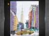 THE EMPIRE STATE BUILDING, NEW YORK by Mavis Bentley, hand embroidery in scrim & silk thread, Ten Plus @ The Atkinson, 2018