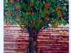 MANGO, TREE OF PROSPERITY by Aruna Mene, fabric collage, Ten Plus @ The Atkinson, 2018