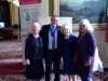 Rubina Porter MBE and Kathy with Deputy Liverpool Lord Mayor and a friend at Liverpool Town Hall, Aug 2018