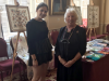 Rubina Porter MBE with granddaughter Cedar at Liverpool Town Hall, Aug 2018