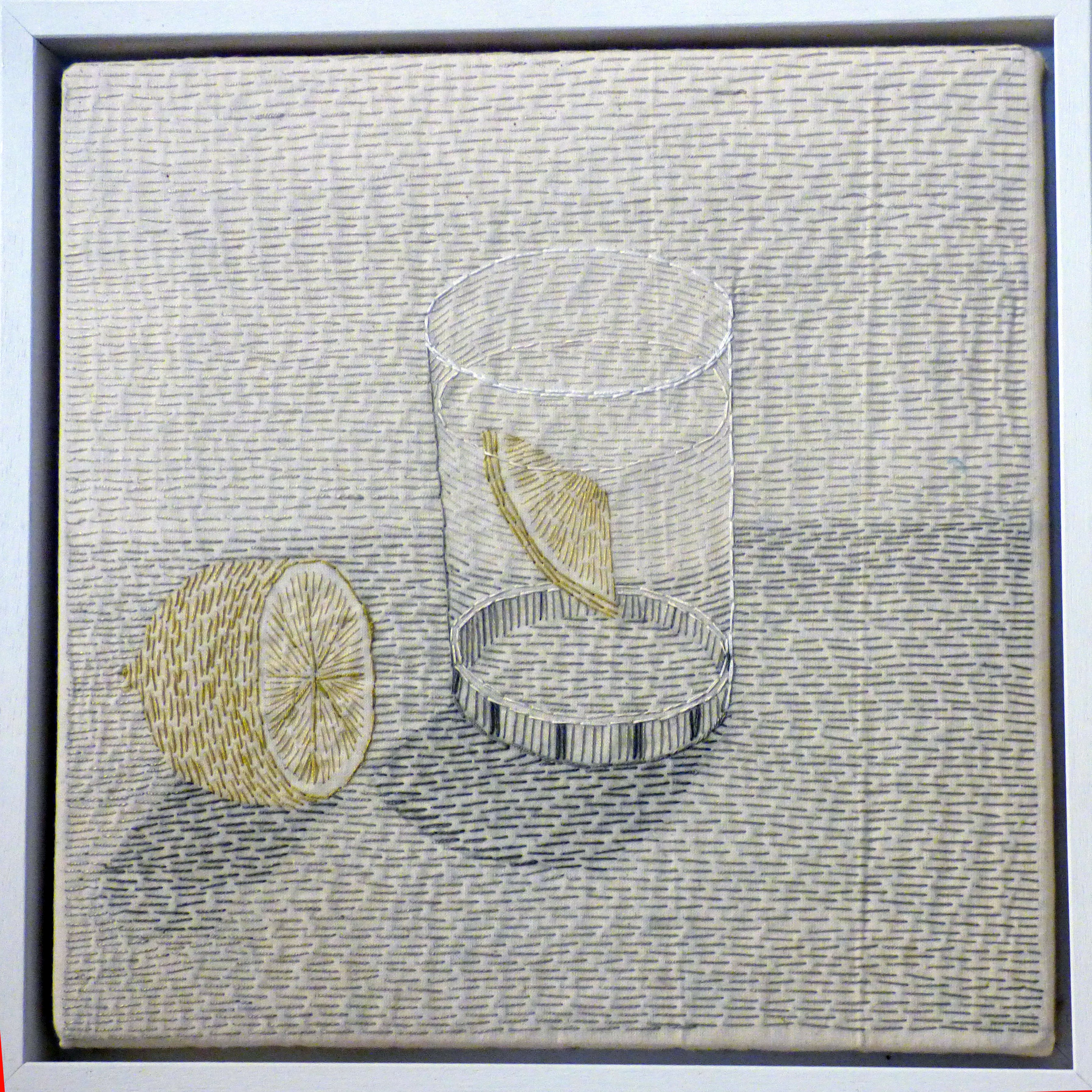 SIMPLE PLEASURES: GIN by Audrey Walker, hand stitch, 2014