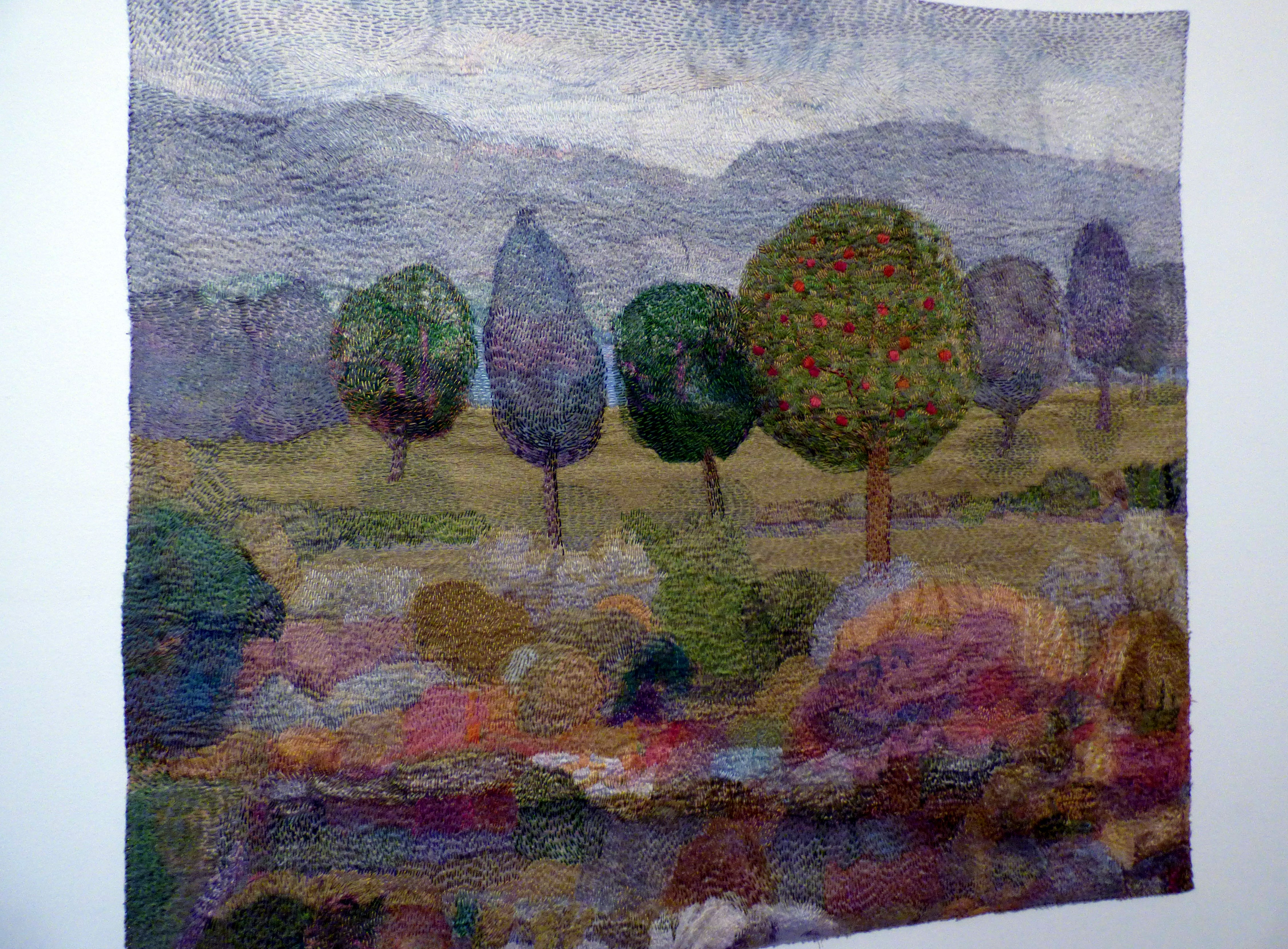 THE GARDEN by Audrey Walker, stitched textile, 2012