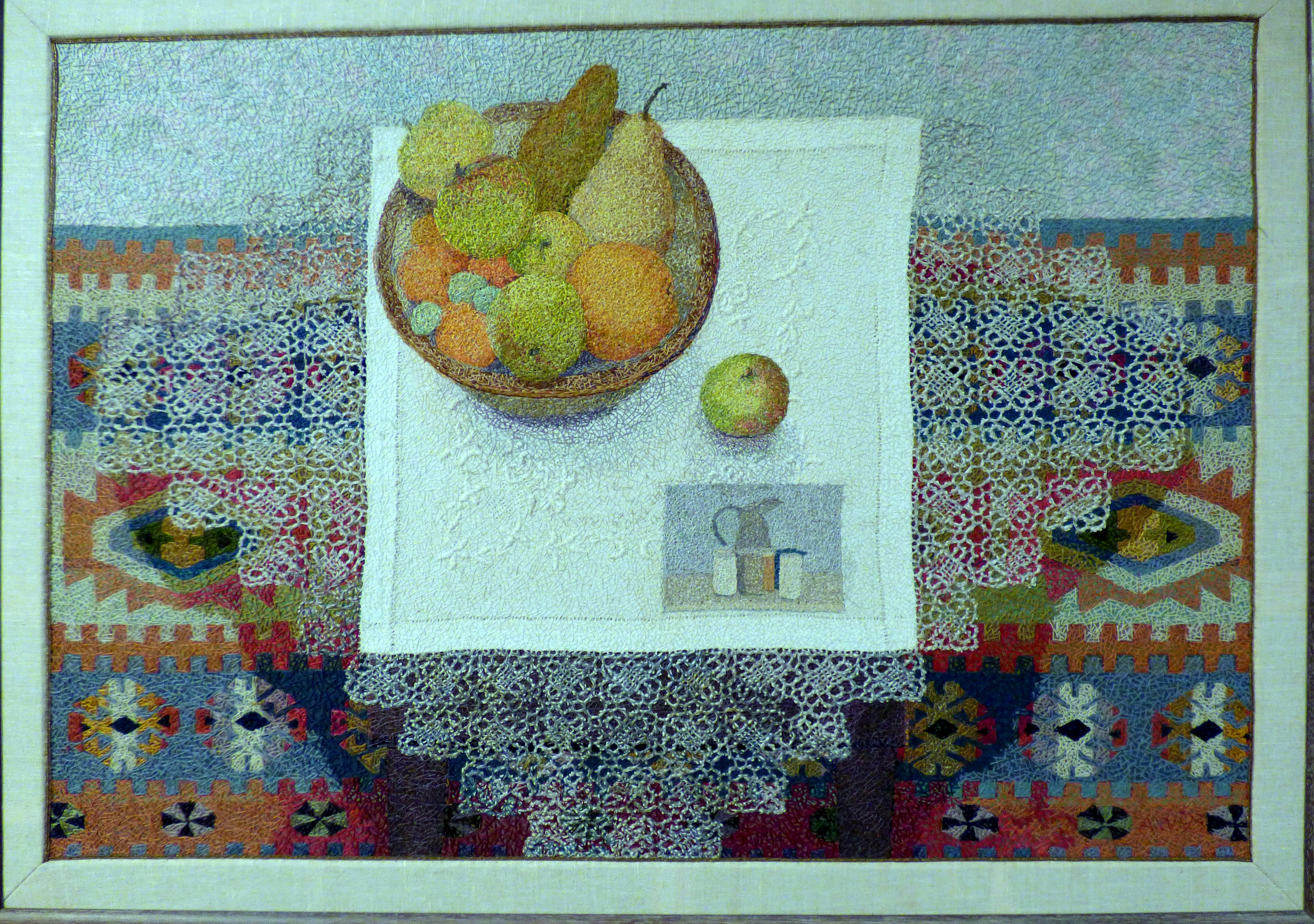 STILL-LIFE by Audrey Walker, stitched textile, 1993