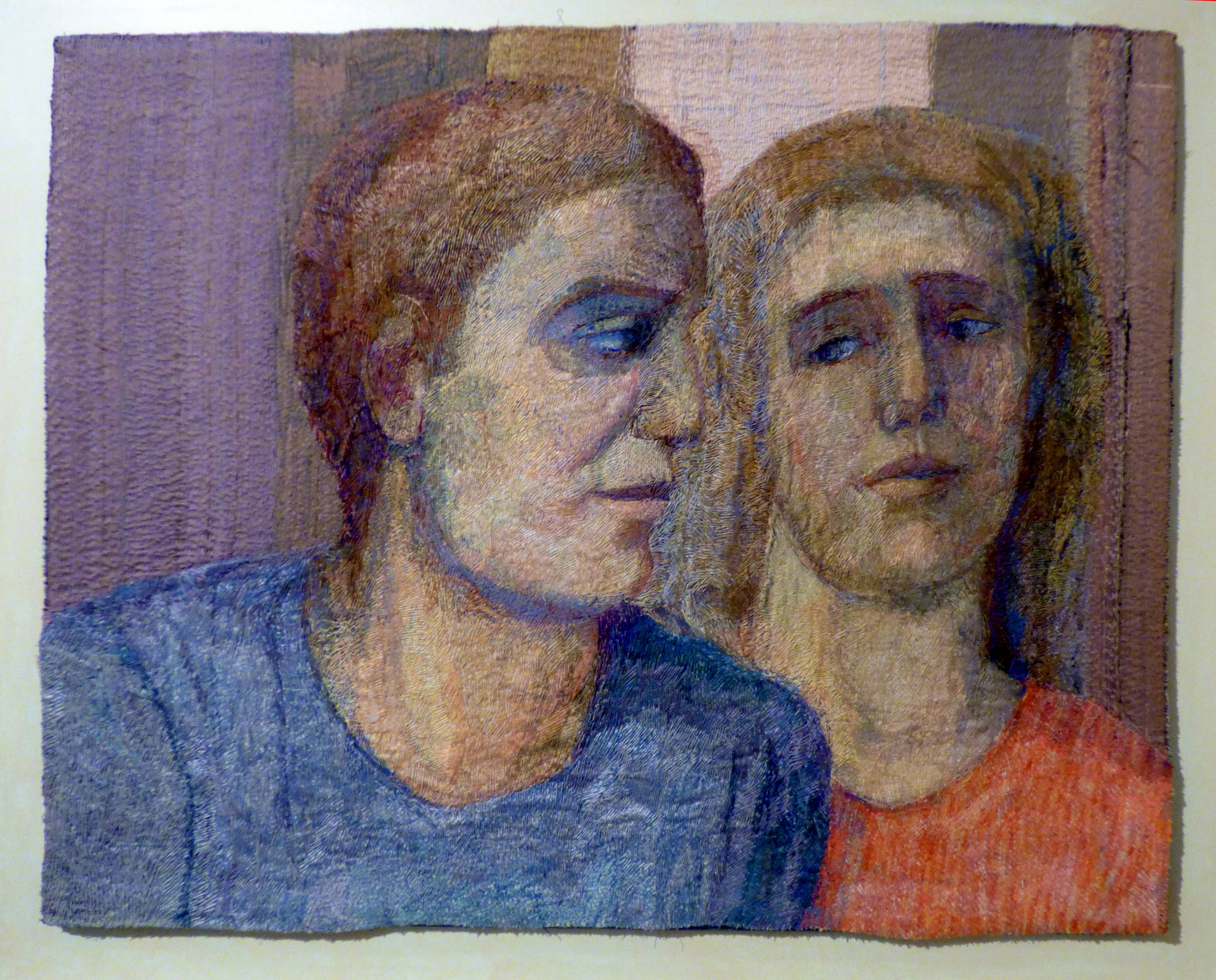 ENCOUNTER by Audrey Walker, stitched textile by Audrey Walker, 1998