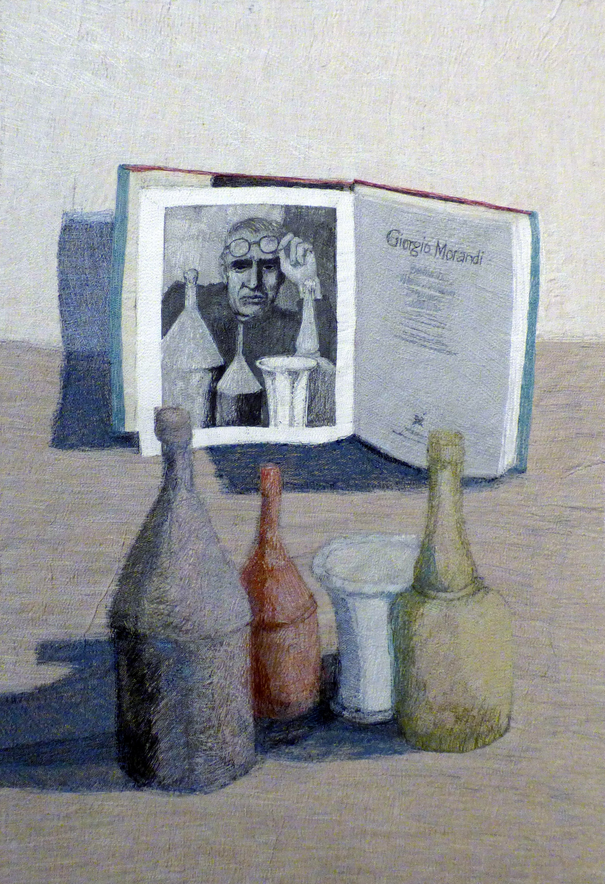 HOMAGE (TO THE PAINTER MORANDI) by Audrey Walker, stitched textile, 2007