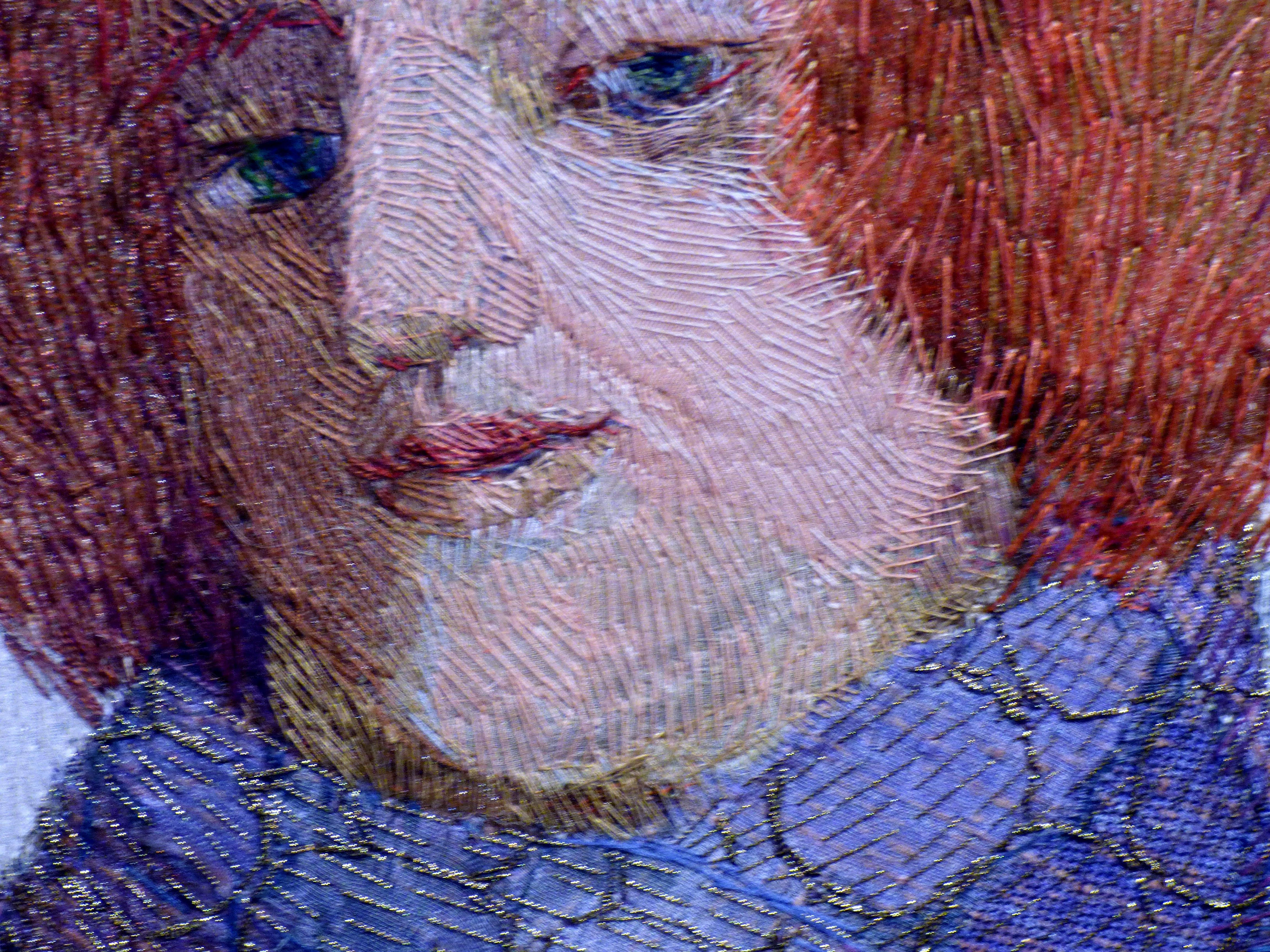 (detail) TEMPTATION (THE COLLECTORS) by Audrey Walker, stitched textile, 2004