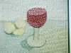 SIMPLE PLEASURES: RED WINE by Audrey Walker, hand stitch, 2014