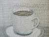 SIMPLE PLEASURES: COFFEE by Audrey Walker, hand stitch, 2014