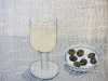 SIMPLE PLEASURES: WHITE WINE by Audrey Walker, hand stitch, 2014