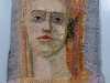 GAZE IV by Audrey Walker, stitched textile, 1999