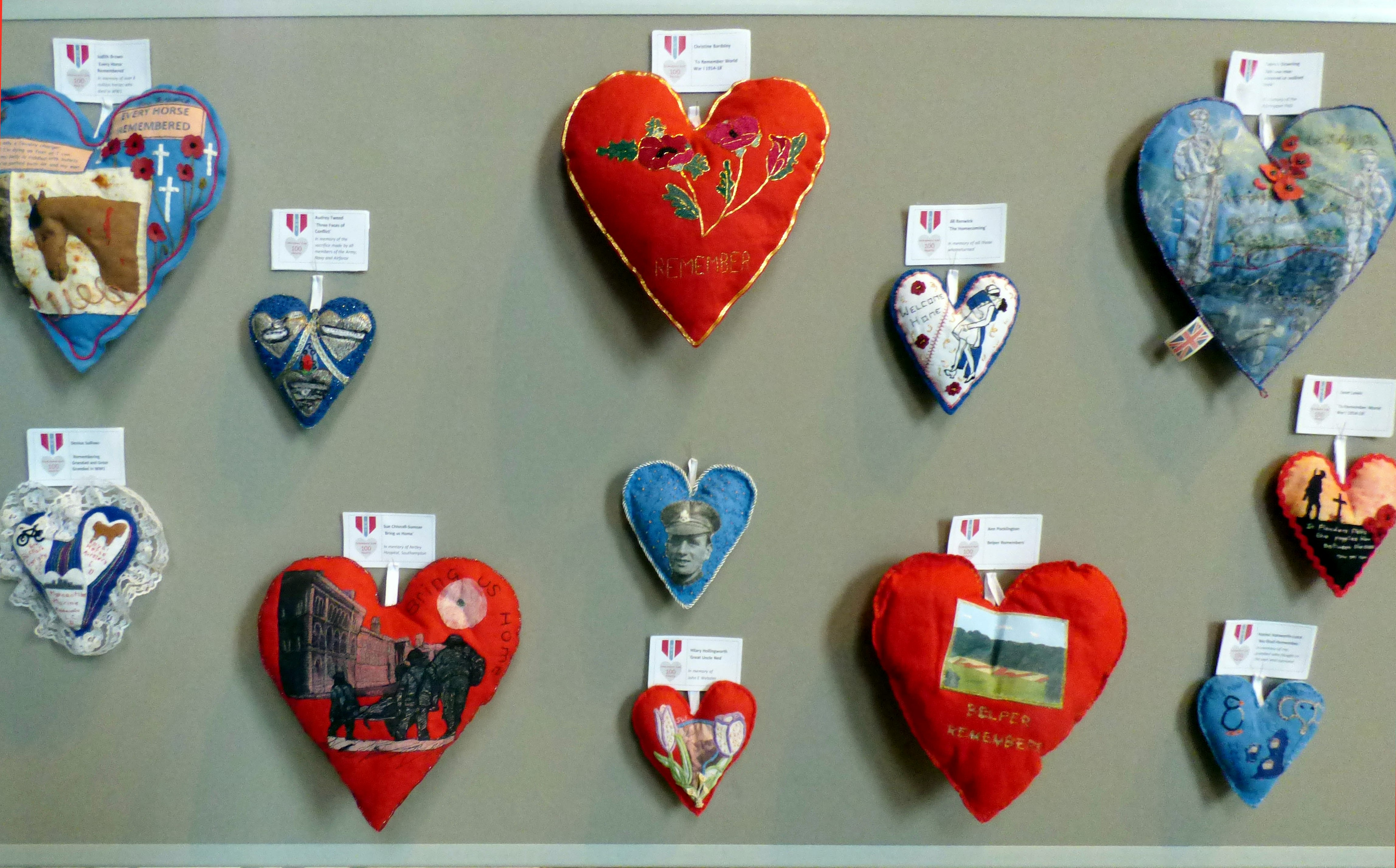 100 Hearts exhibition Liverpool Cathedral, 2018
