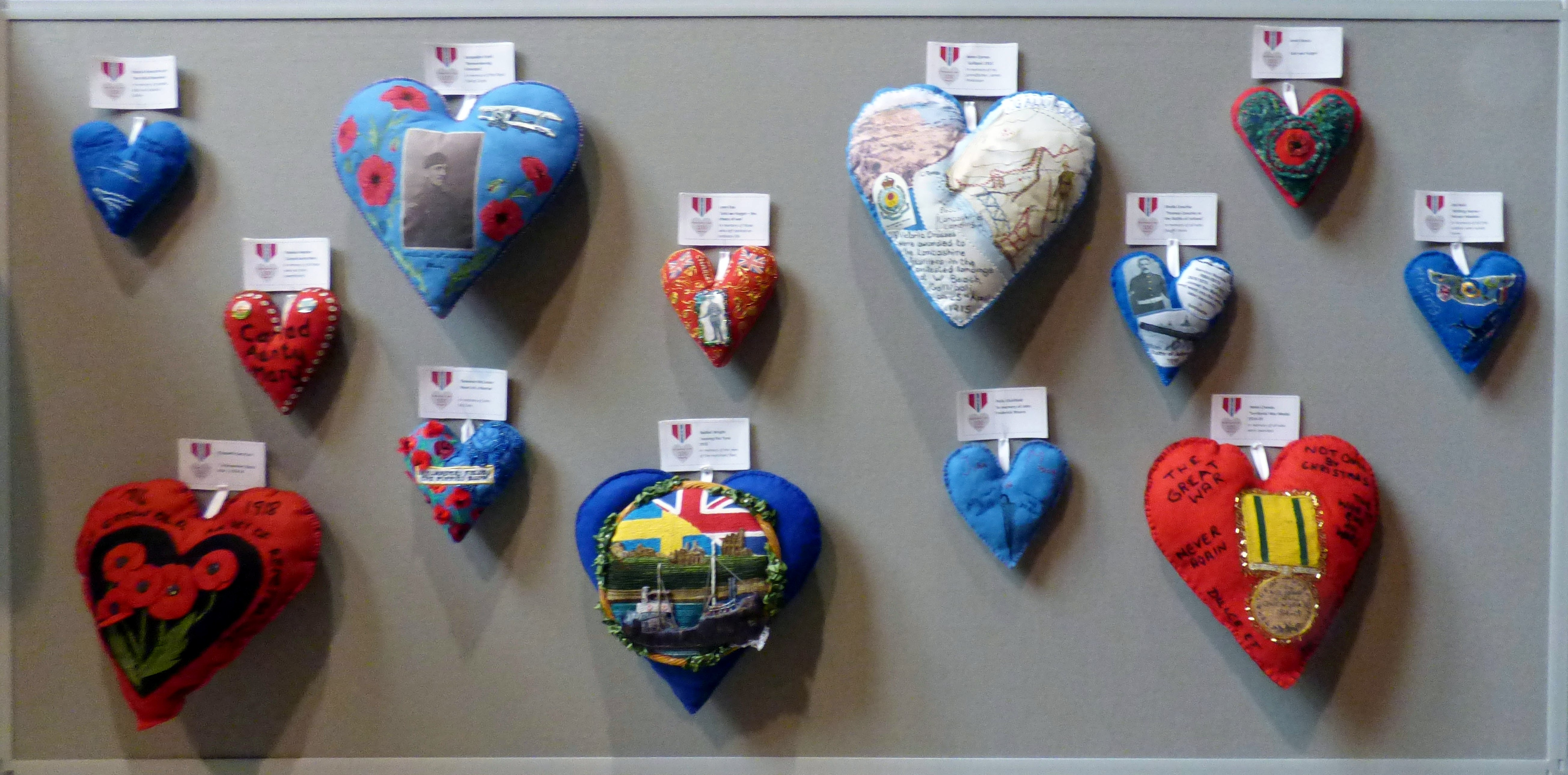 100 Hearts exhibition, Liverpool Cathedral, Sept 2018