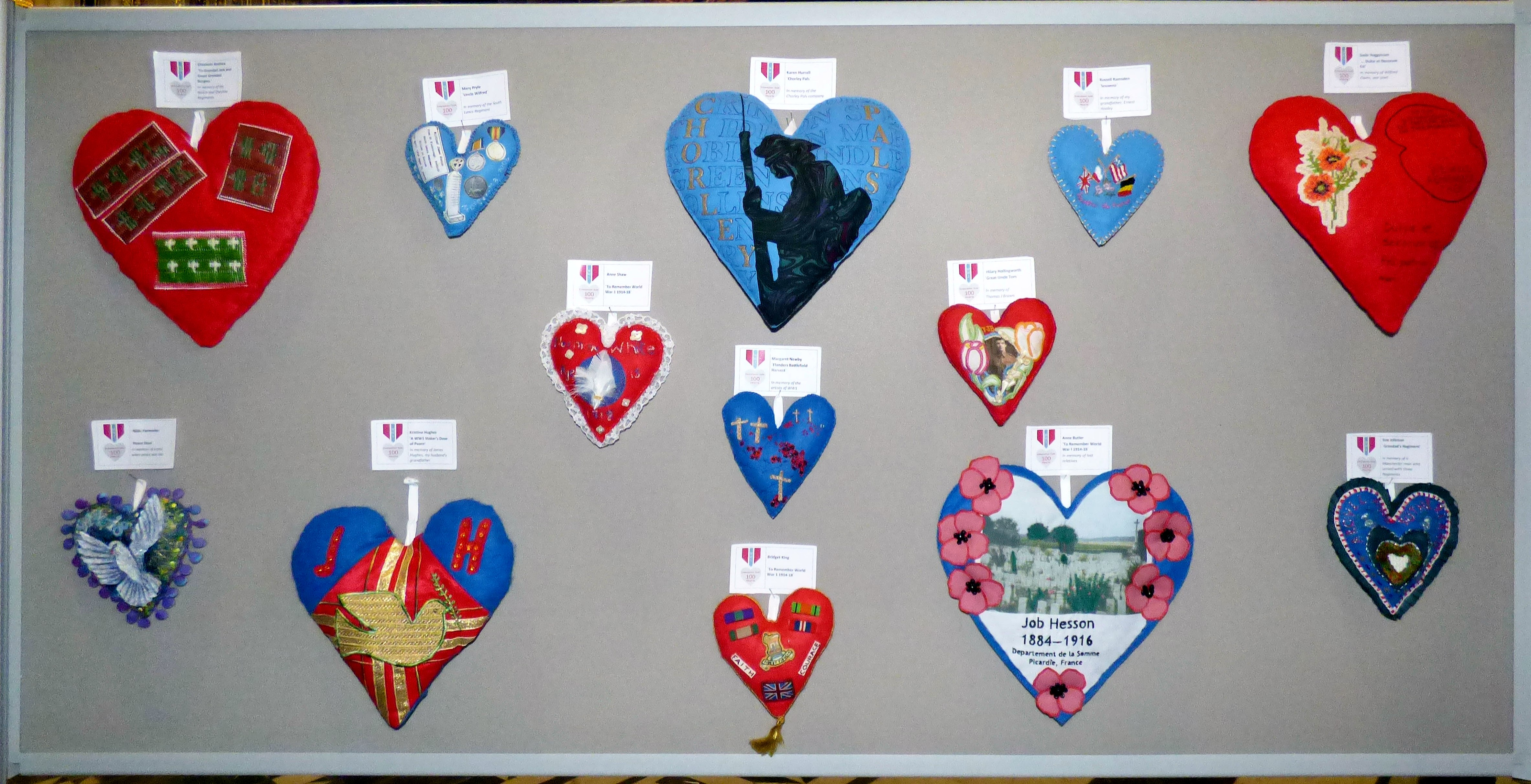 100 Hearts exhibition, Liverpool cathedral,Sept 2018