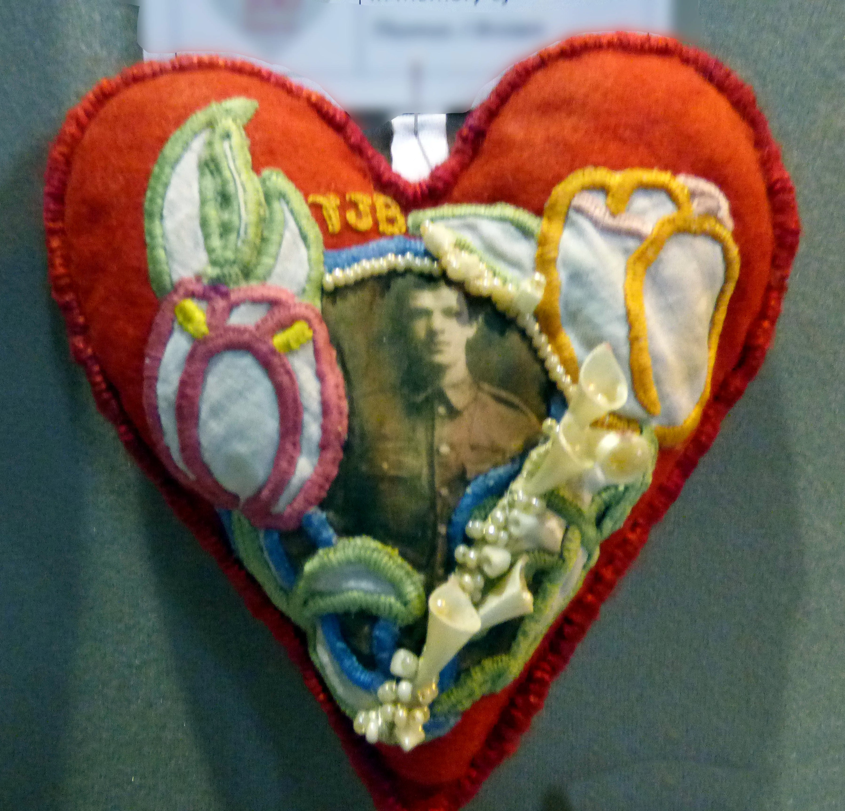 GREAT UNCLE TOM by Hilary Hollingsworth, in memory of Thomas J Brown, 100 Hearts exhibition, Liverpool Cathedral, Sept 2018