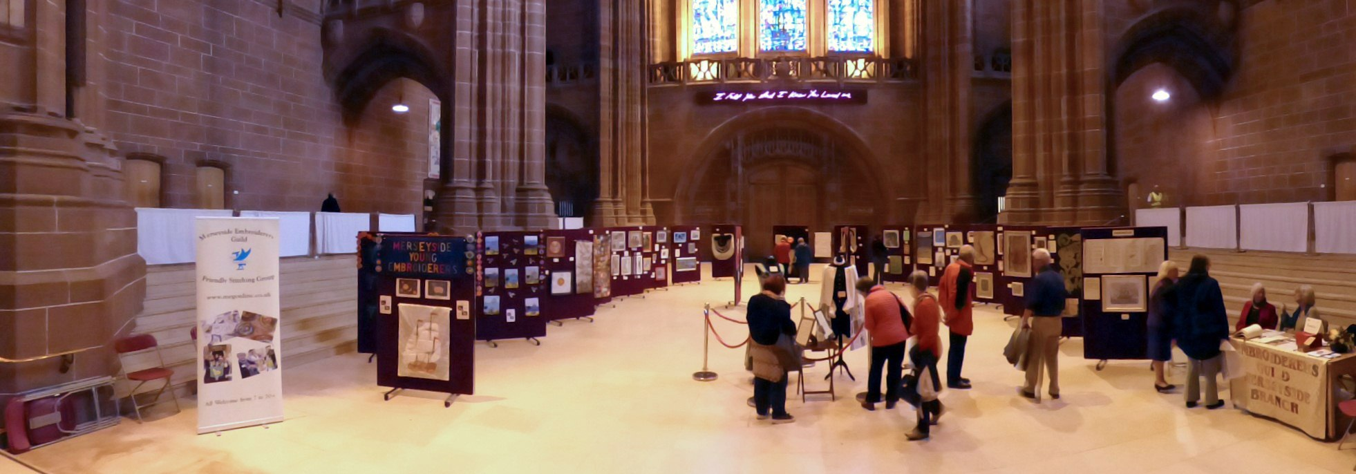 Endeavour exhibition, Liverpool Cathedral, Sept 2018