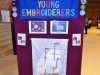 part of Young Embroiderers' display, Endeavour exhibition, Liverpool Cathedral, Sept 2018