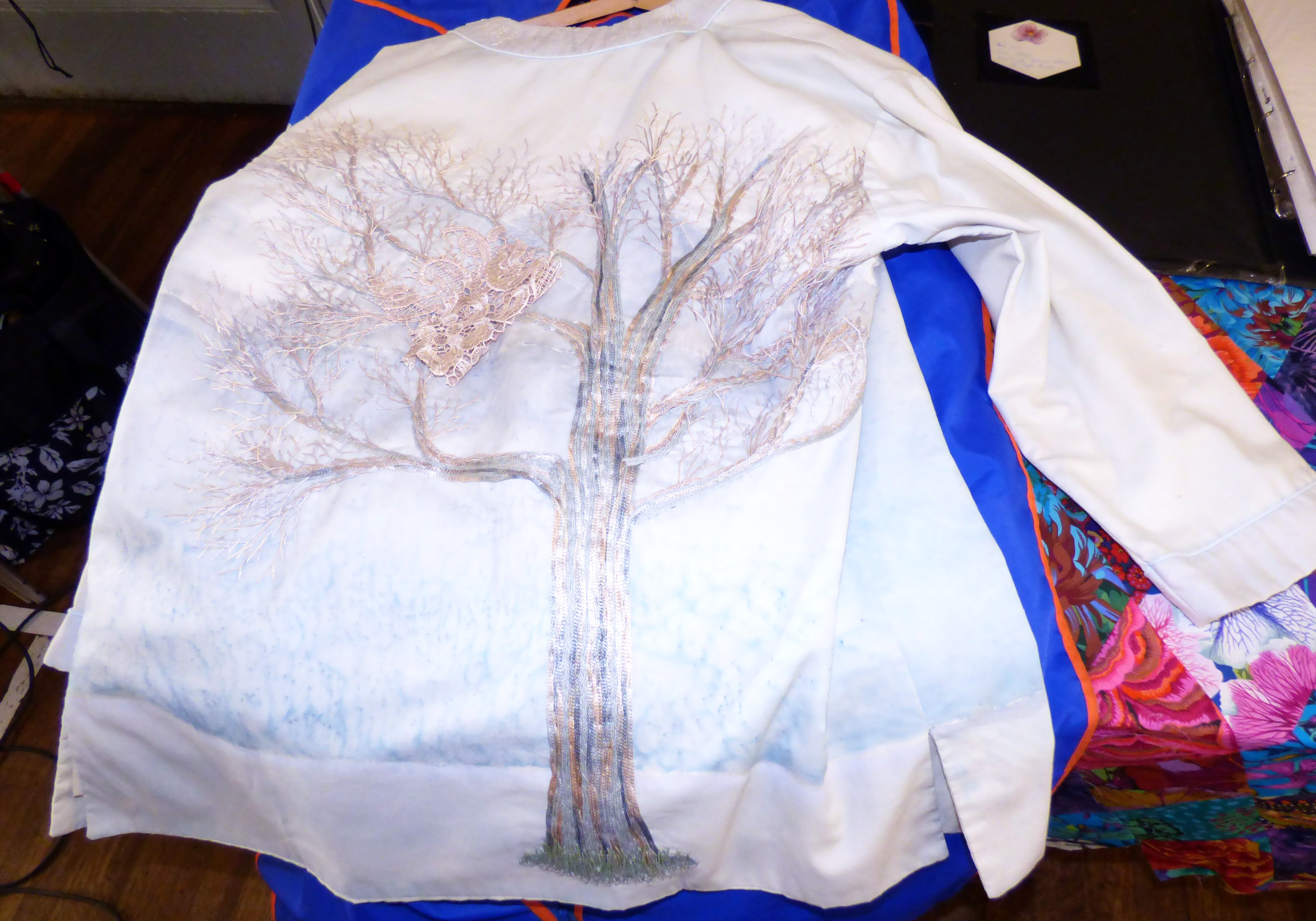 """embroidery by Gill Roberts, """"My Stitching Journey"""" Talk, Oct 2018"""
