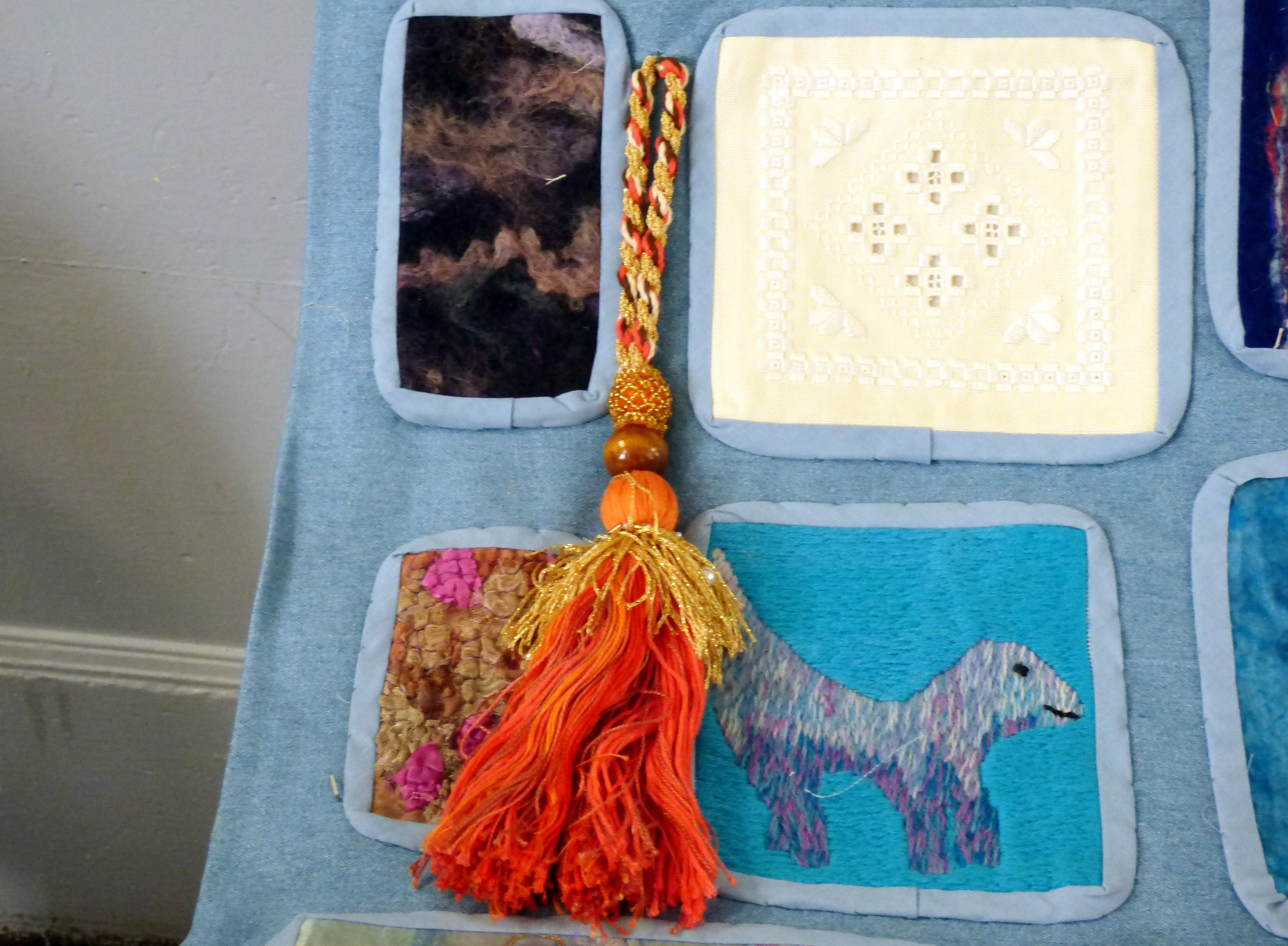 "embroidery by Gill Roberts, ""My Stitching Journey"" Talk, Oct 2018"