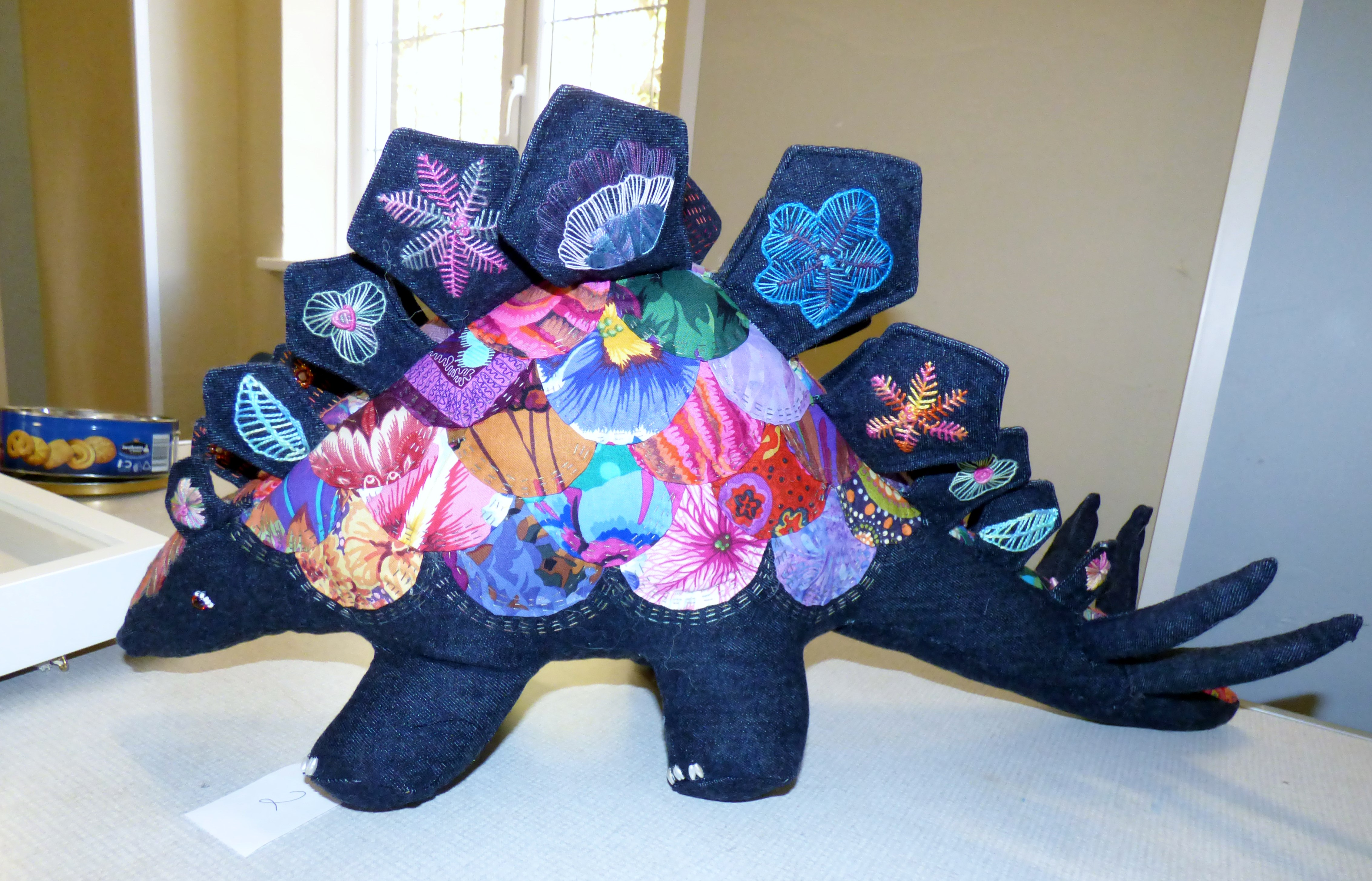 winning entry entry to Chair's Challenge competition 2018. STEGOSAURUS by Gill Roberts