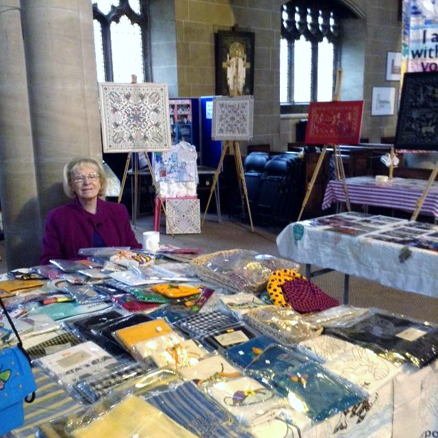 Kathy Green with the Sreepur stall in St Barnabus Church, Oct 2018