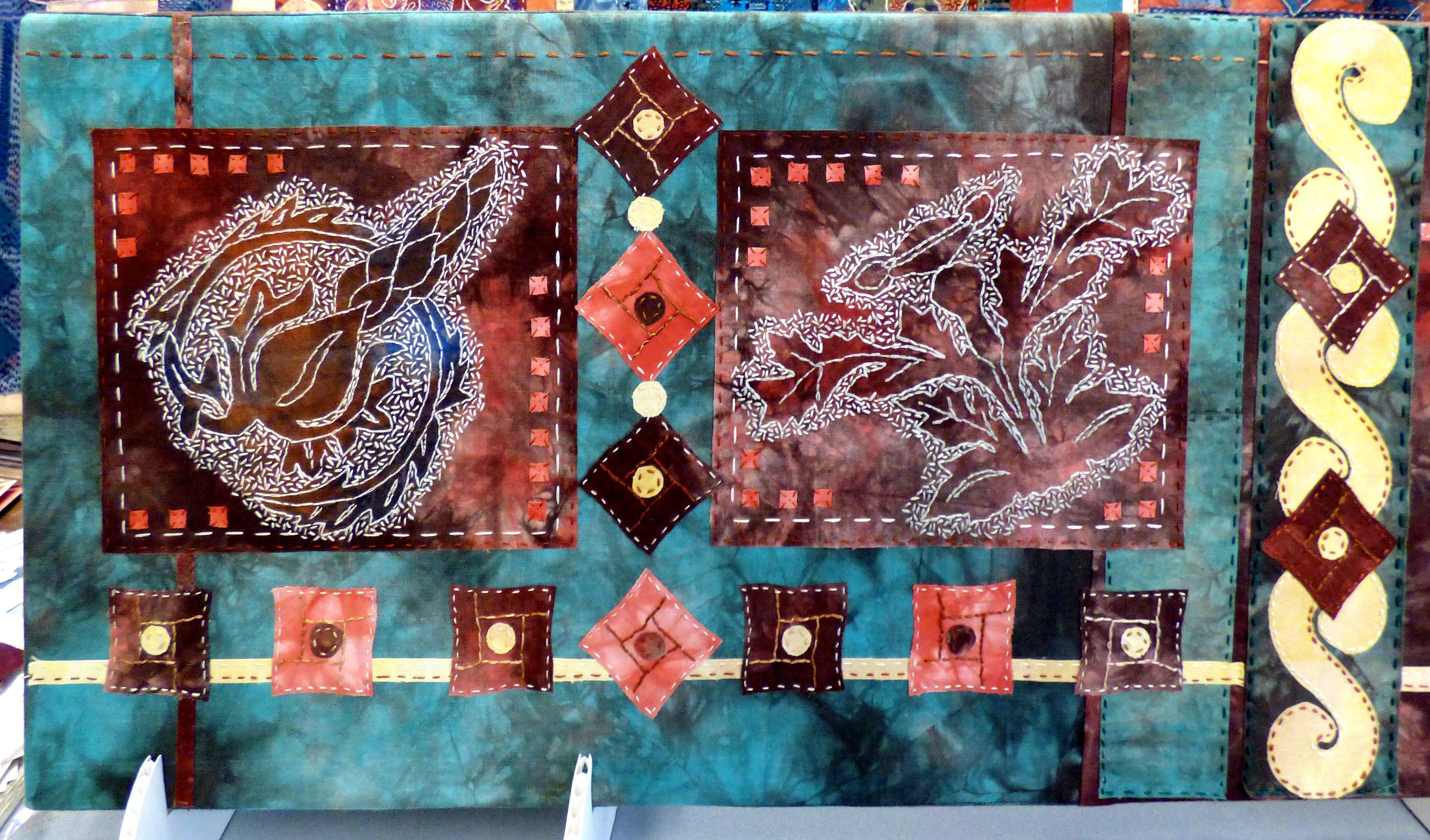 embroidery by Barbara Ryall, Bolton EG 2018