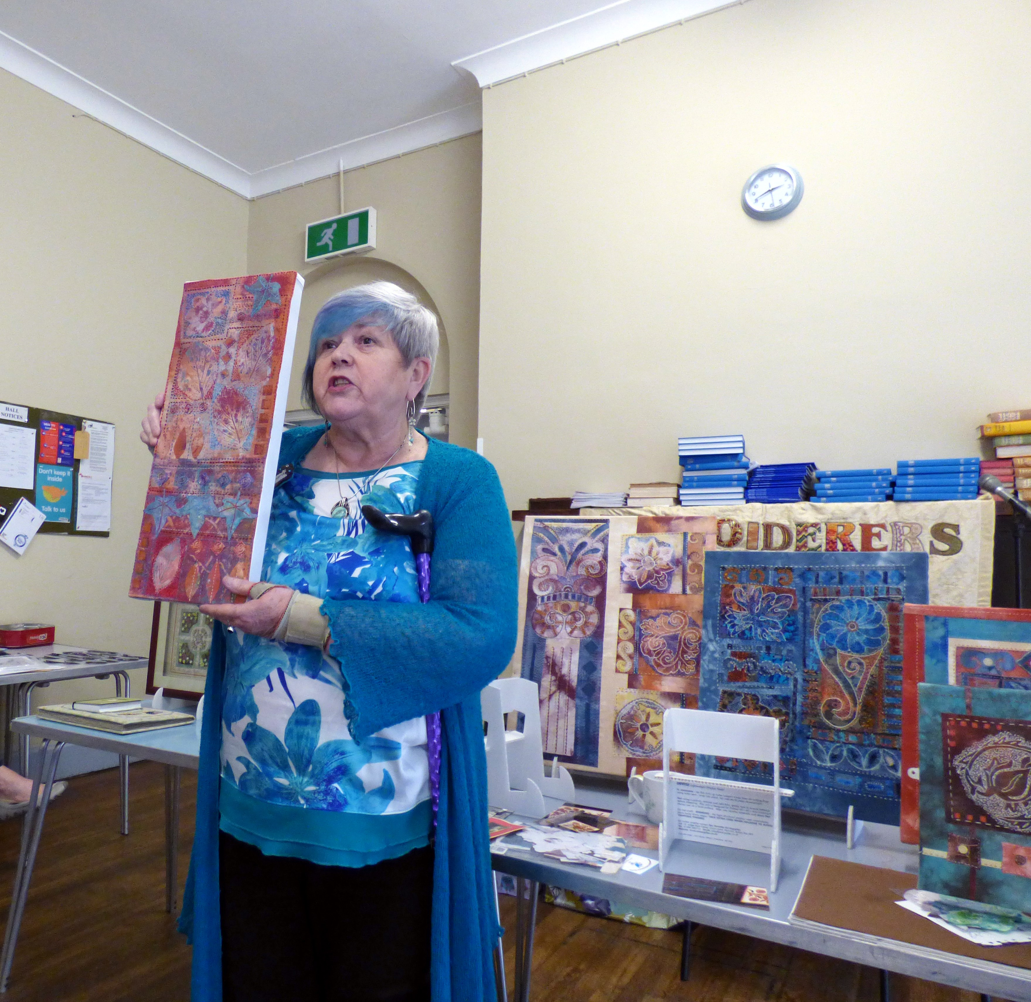 Barbara Ryall form Bolton EG with some of her work 2018