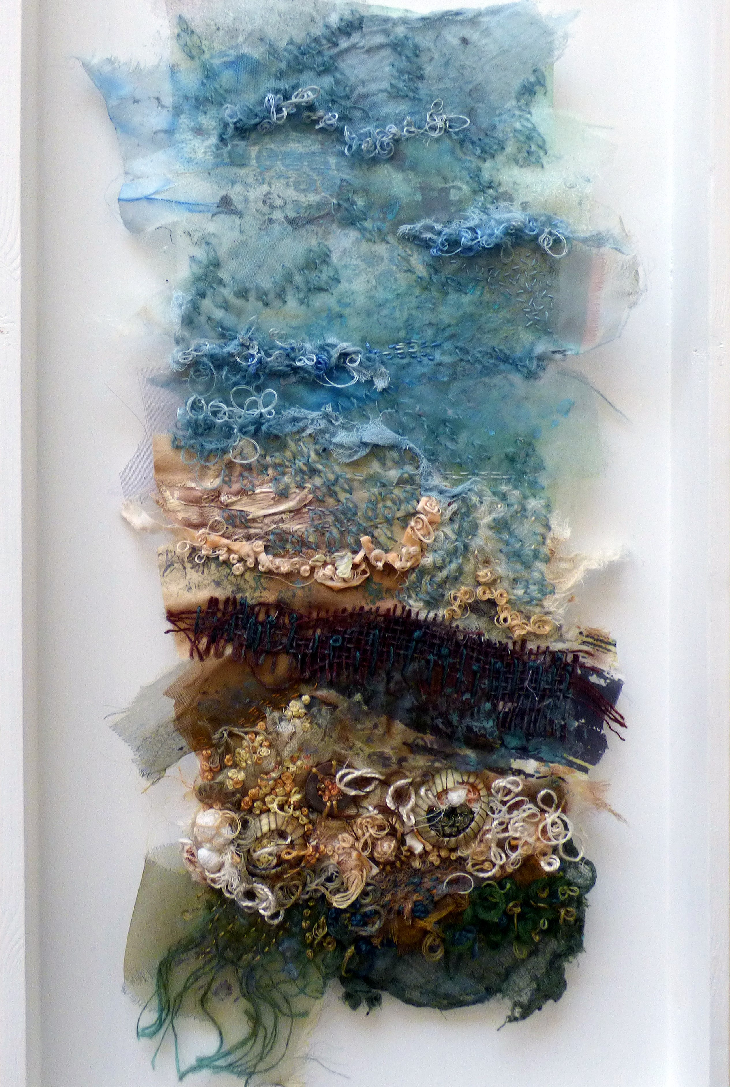 ON THE EDGE OF THE TIDE by Elsa Buch, Textile 21, Aug 2018. Textiles and mixed media