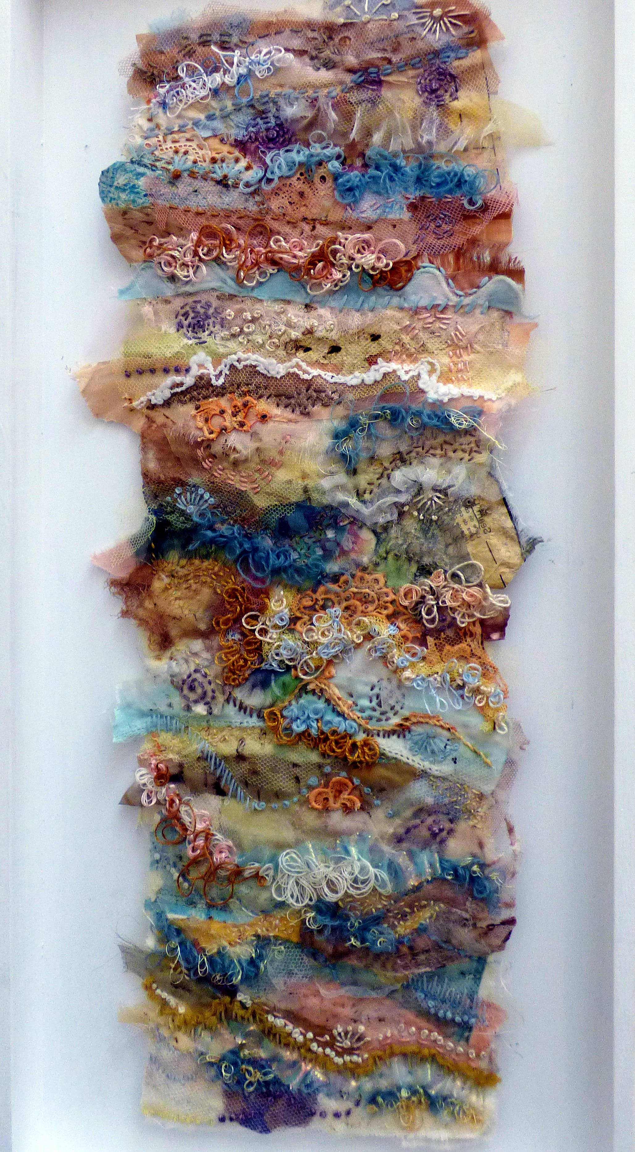 ON THE EDGE OF THE TIDE 2 by Elsa Buch, Textile 21, Aug 2018. Textiles and mixed media