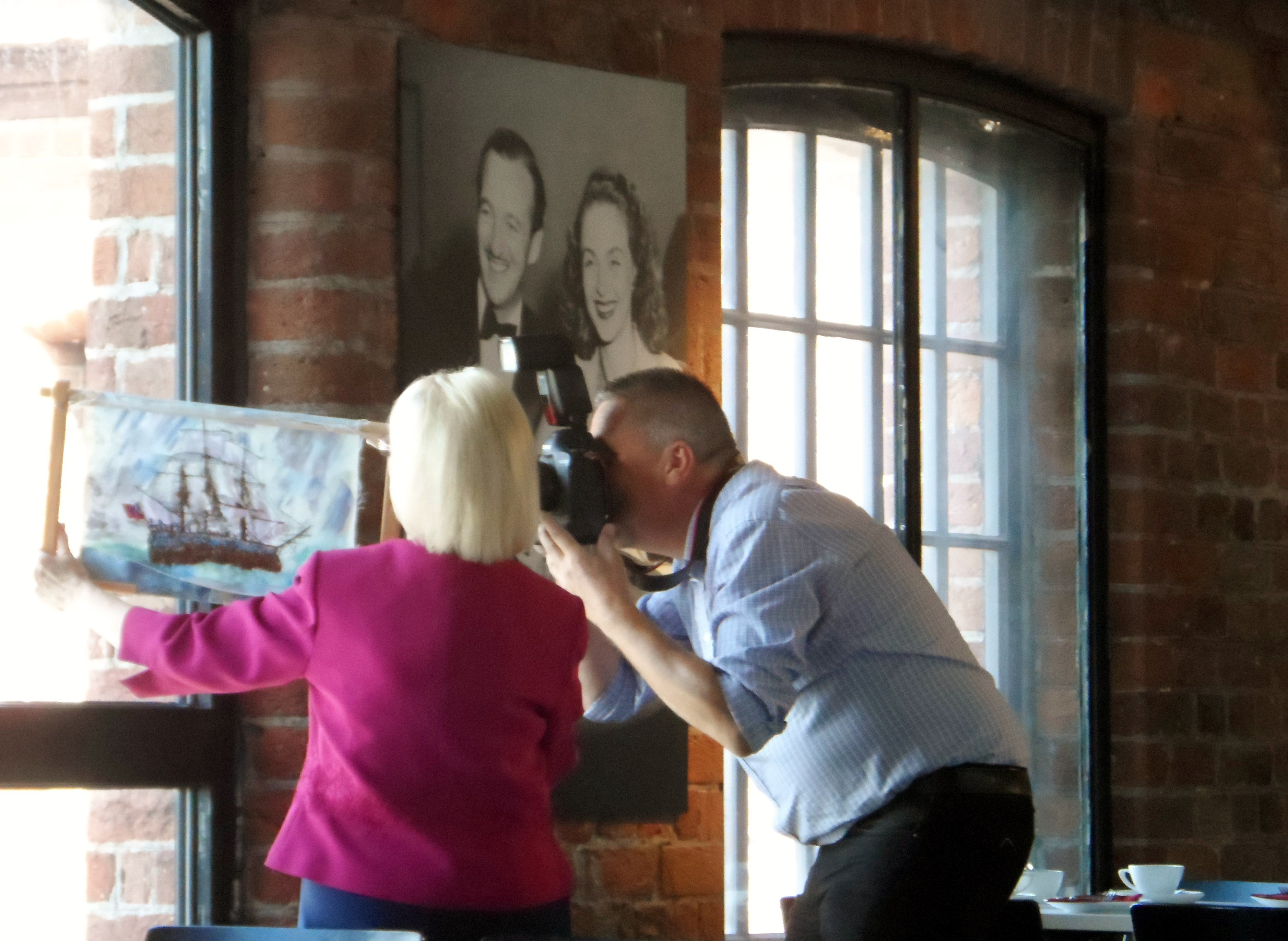 "Jason is photographing Kathy's work for ""The Australian"" newspaper, Aug 2018"