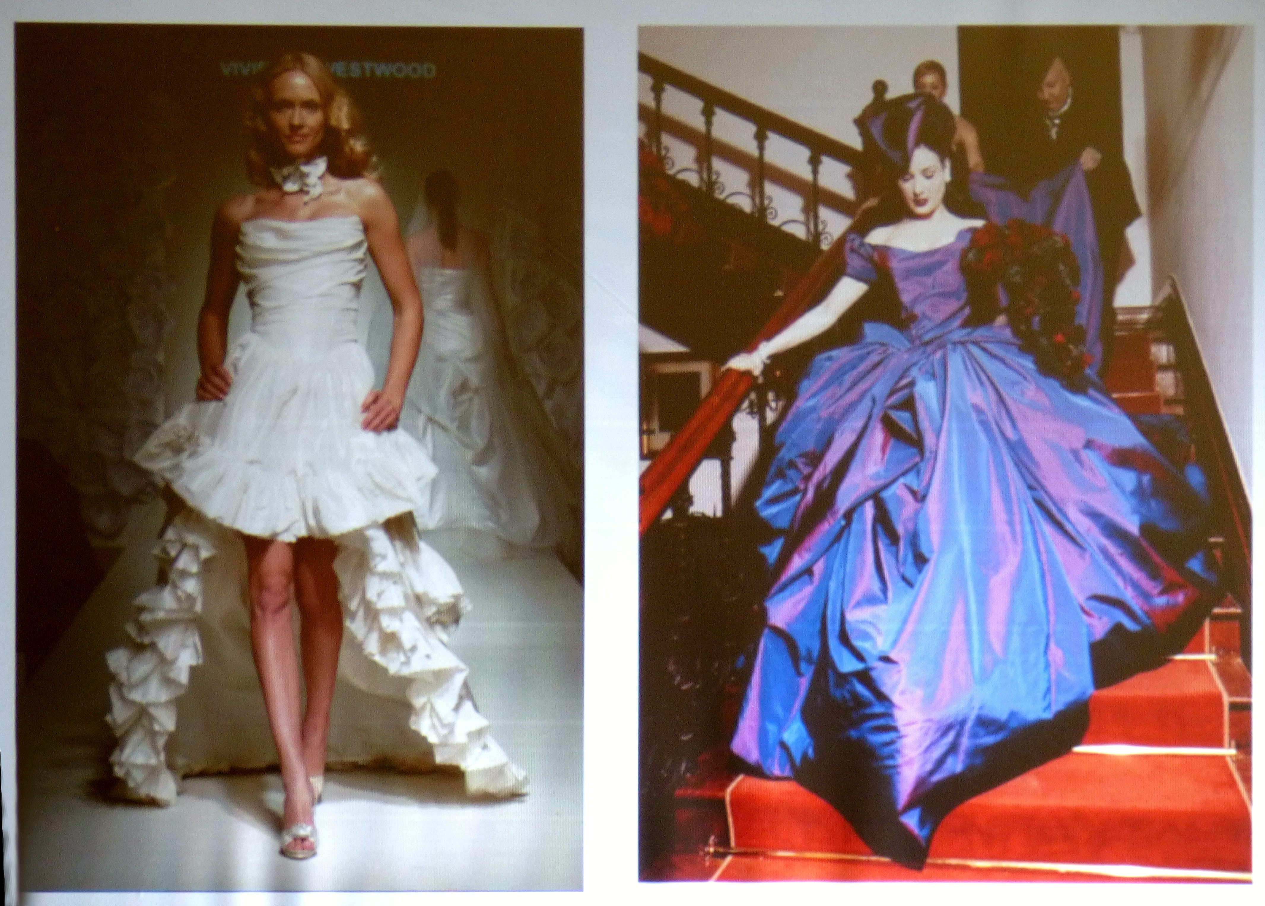 slide showing wedding dresses by Vivienne Westwood - Ready-to-wear and Couture