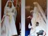 slide showing Sarah Ferguson, dress by Linda Cierach 1986