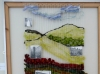 BOLLIN VALLEY, work inspired by  weaving, silk  and the buildings by Janet Parkinson
