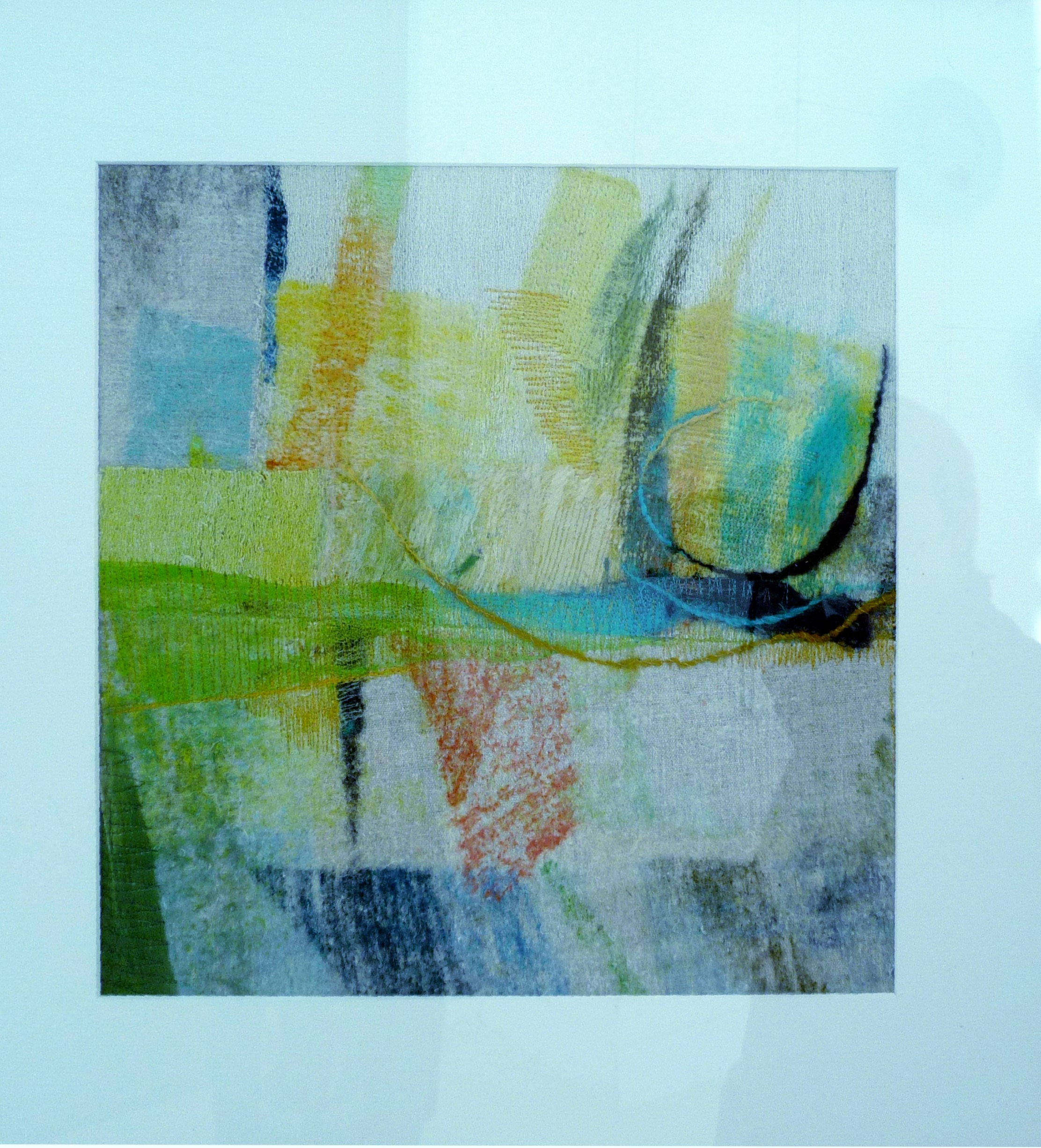 ABSTRACT by Marion Roberts, felt/stitch
