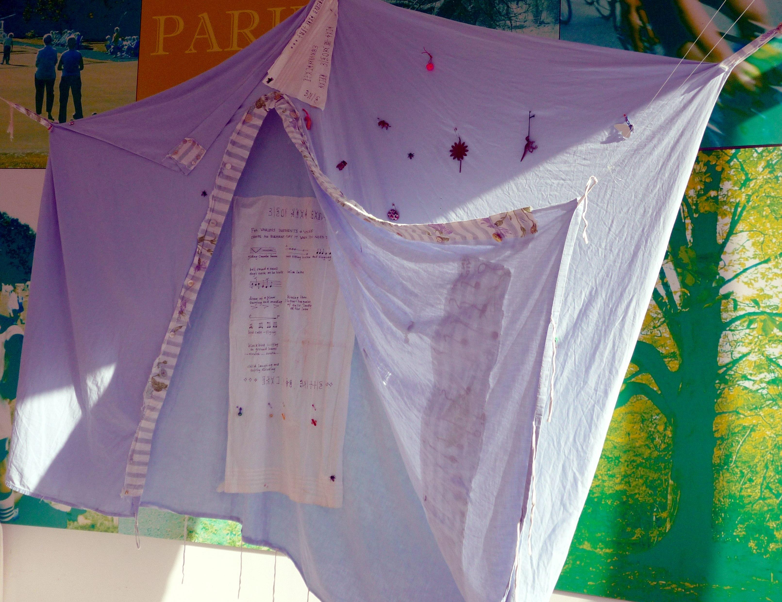 TRAVELLING TENT by Judith Railton, recylced fabrics