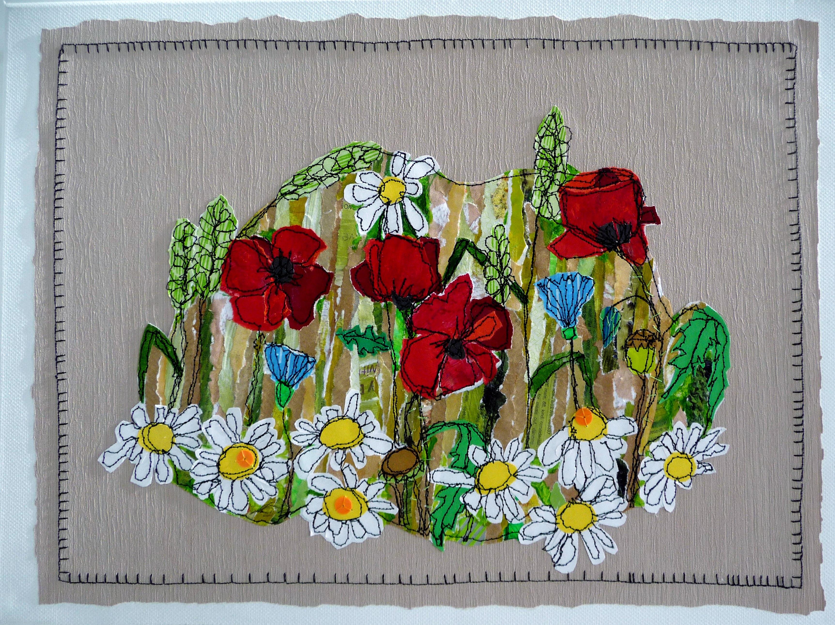 CORNFIELD by Sue Boardman, stitched paper