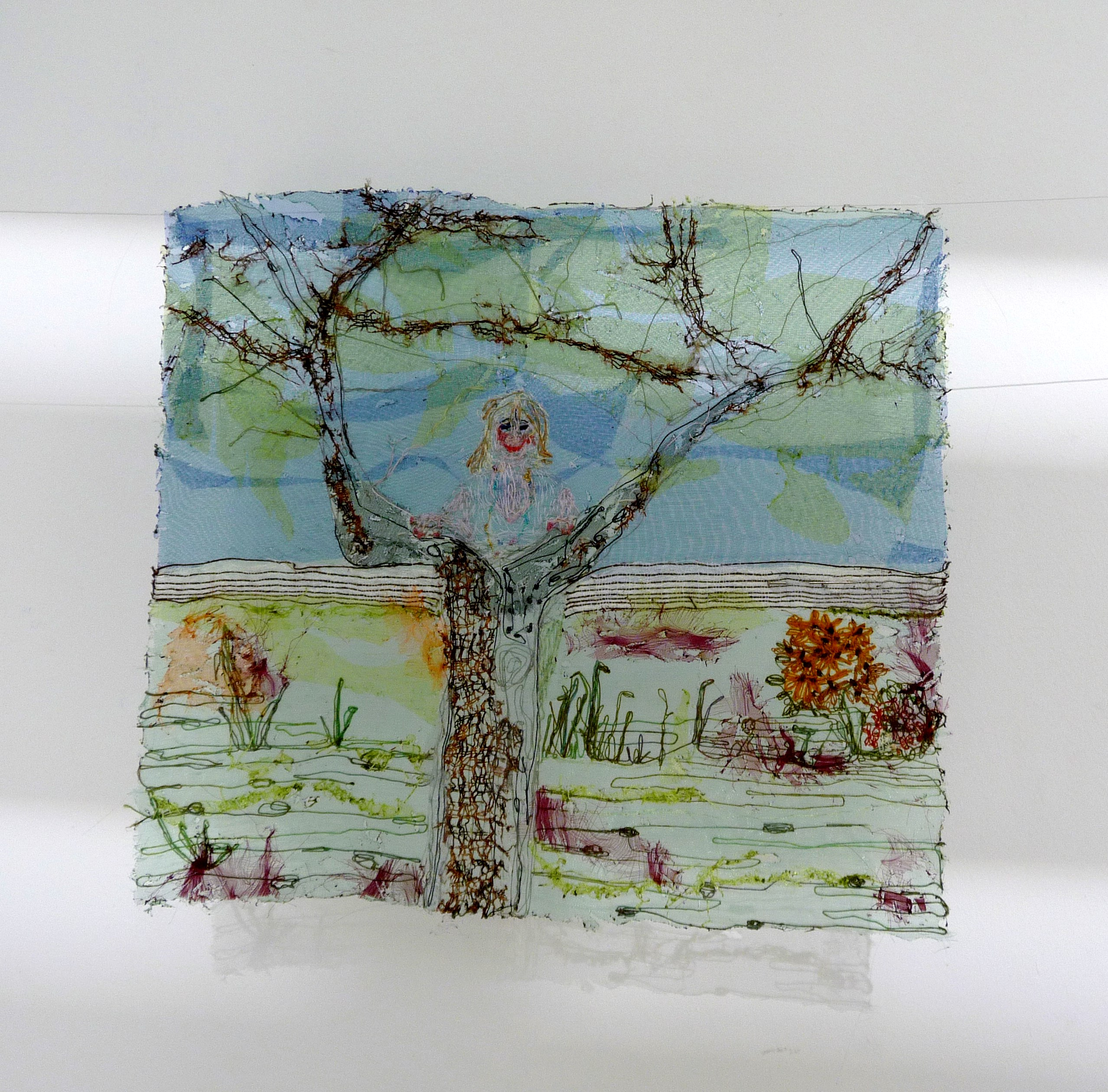 THE FAMILY TREE by Yvonne Deegan, soldering and hand embroidery