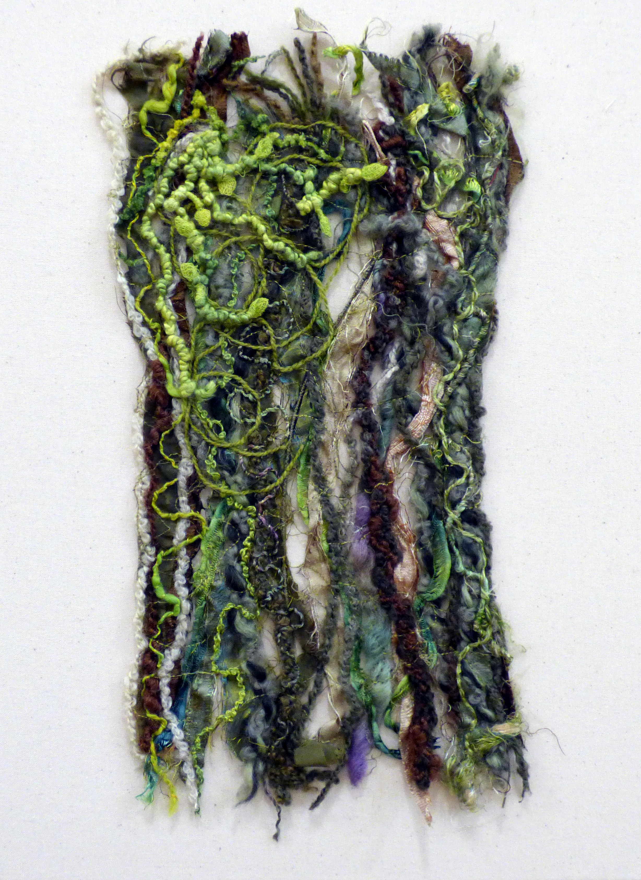 TREES AND LEAVES: SPRING by Carol Condliffe, Macclesfield & District EG, machine stitching and couching