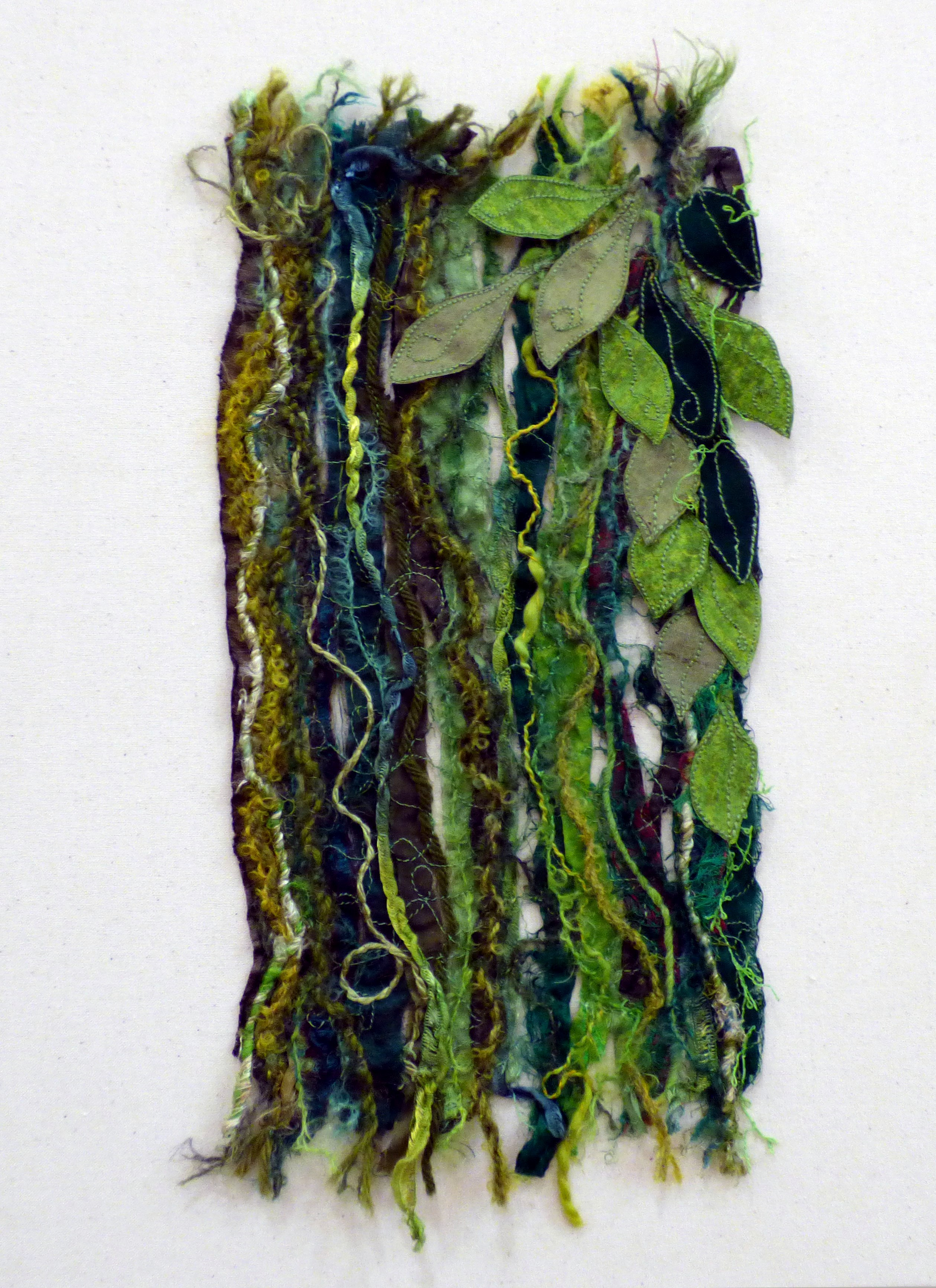 TREES AND LEAVES: SUMMER by Carol Condliffe, Macclesfield & District EG, machine stitching and couching