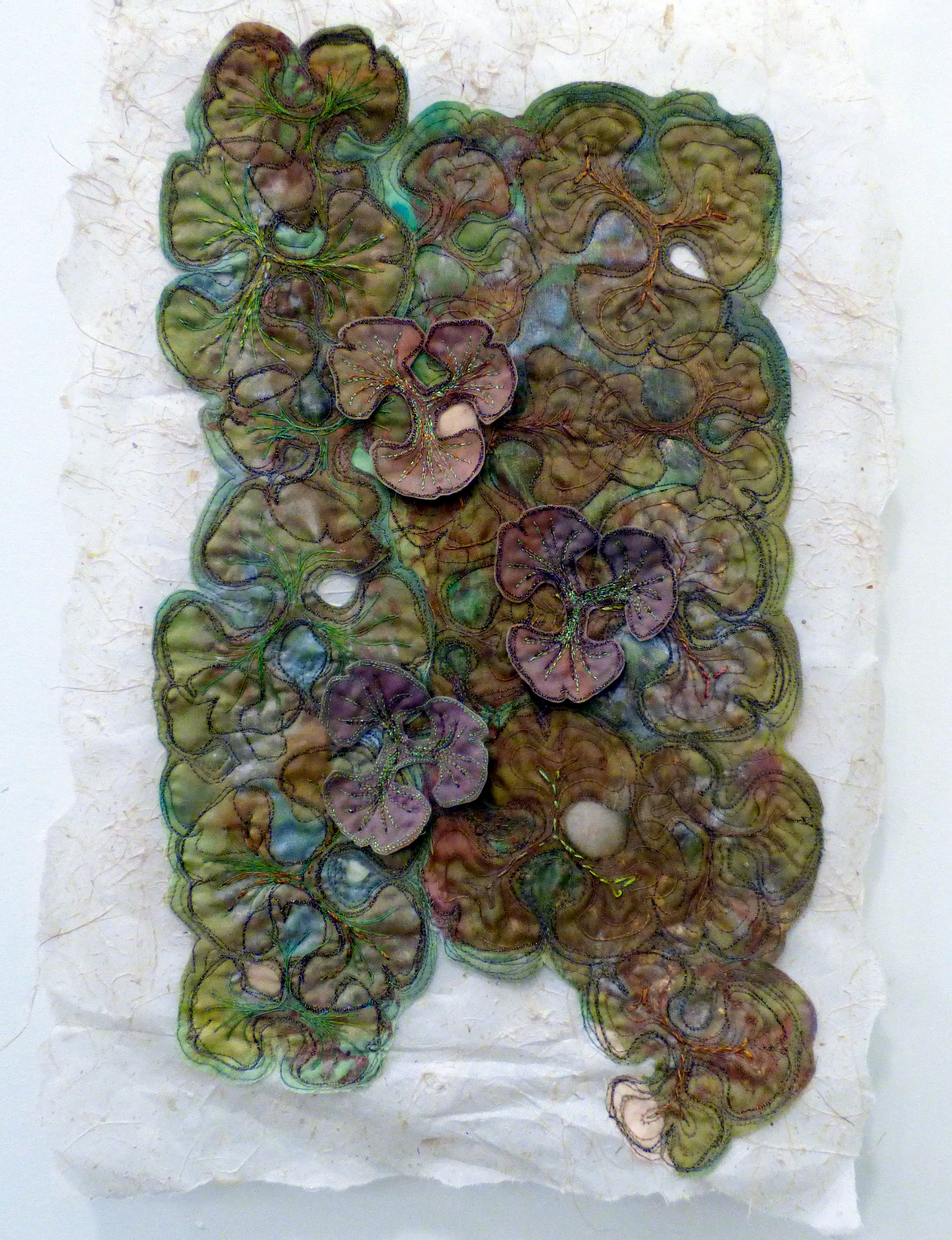 GINKHO 1 by Sheila Conchie, Glossop & District EG, machine embroidery