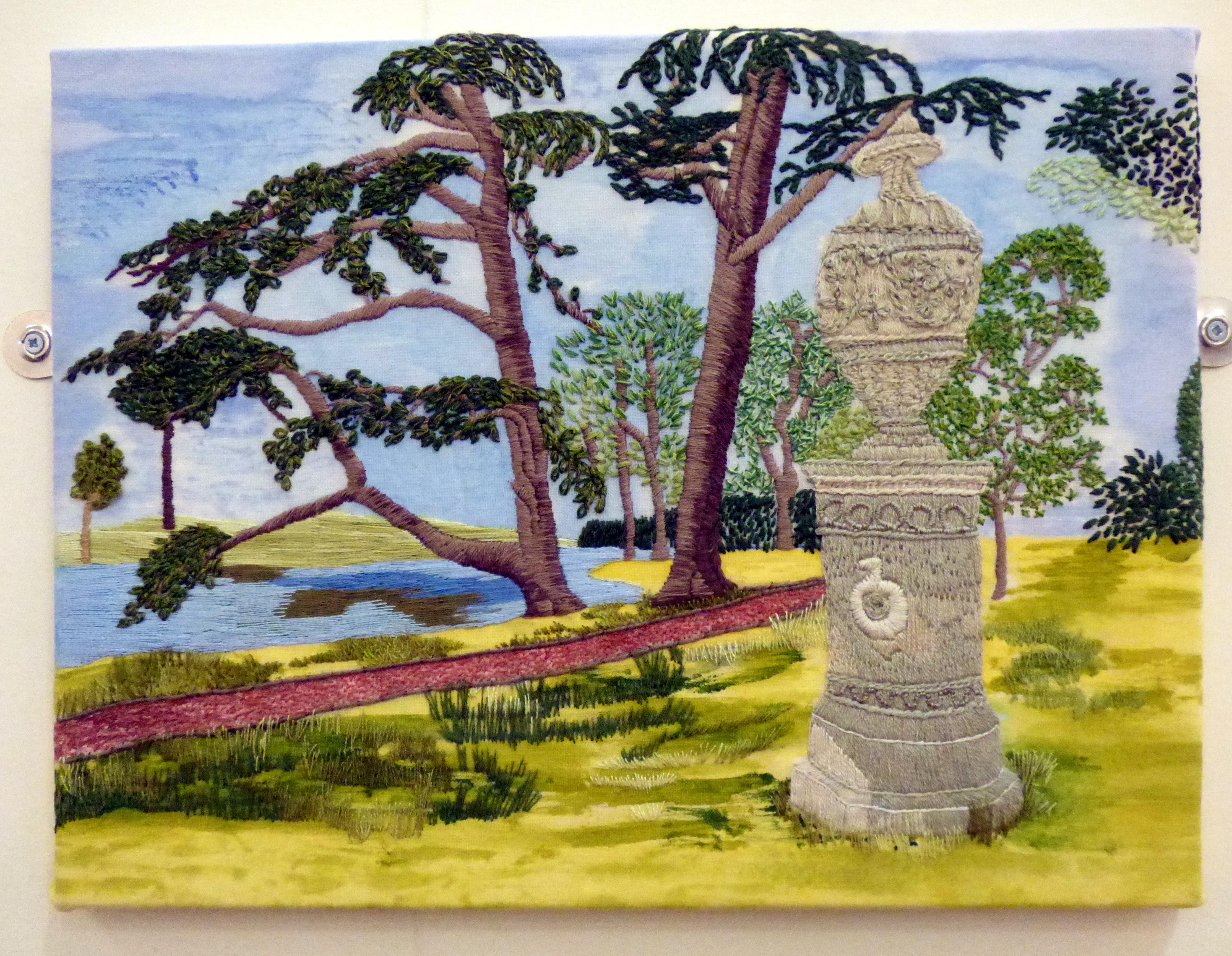 CROOME PARK by Suzanne Gilbert, Glossop & District EG, hand stitch