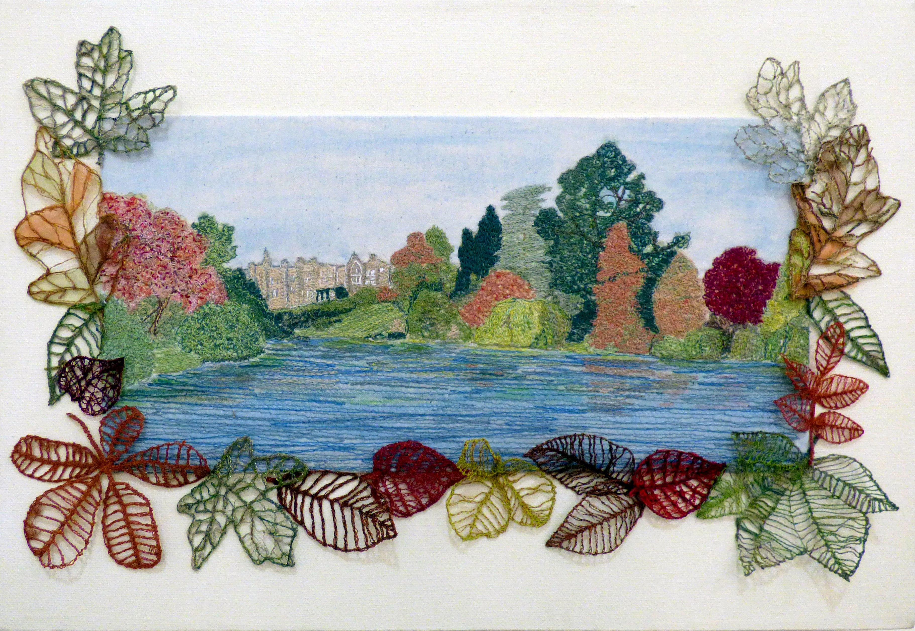 SHEFFIELD PARK, SUSSEX by Ann Cornes, Glossop & District EG, water soluble fabric and machine stitch