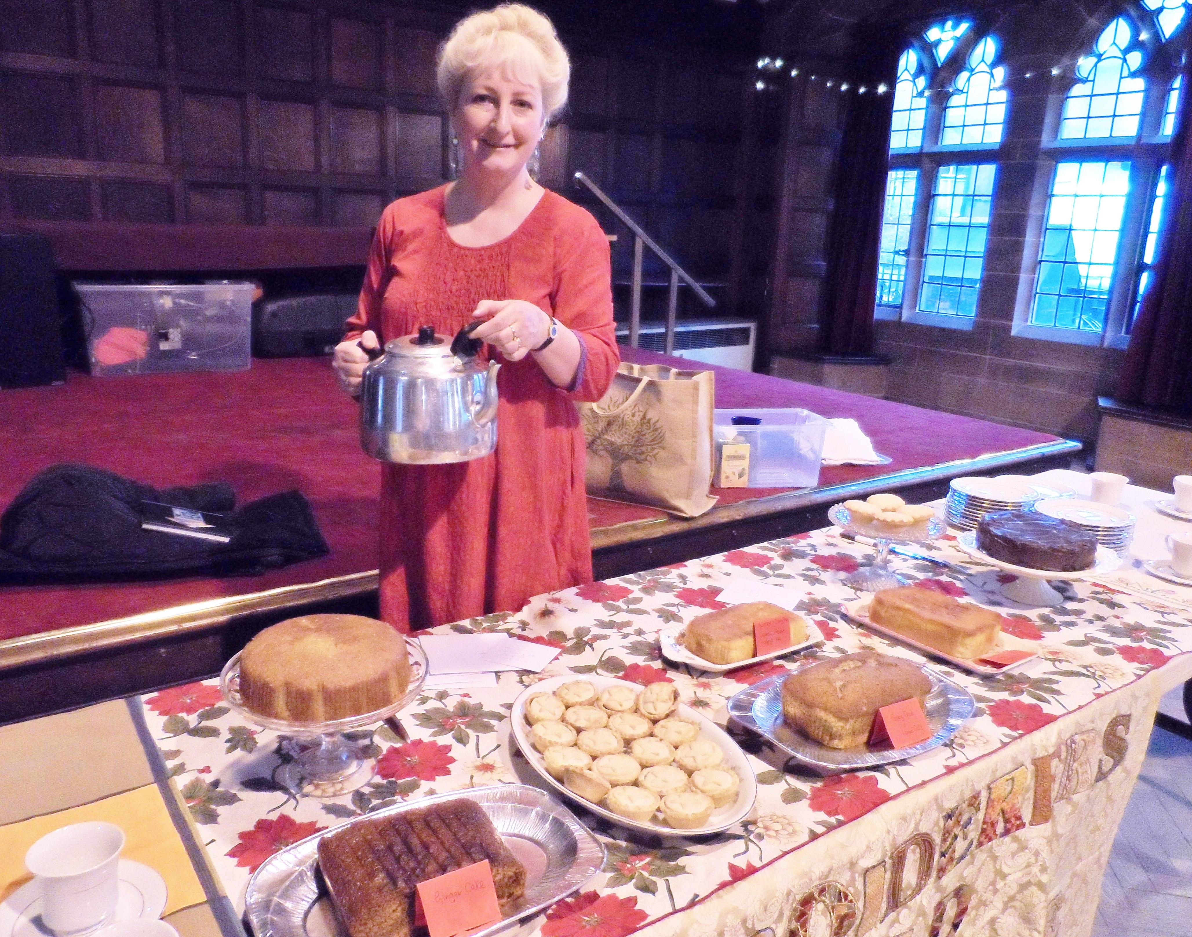 Sarah with the Tea Stall, Christmas Fun Day 2018