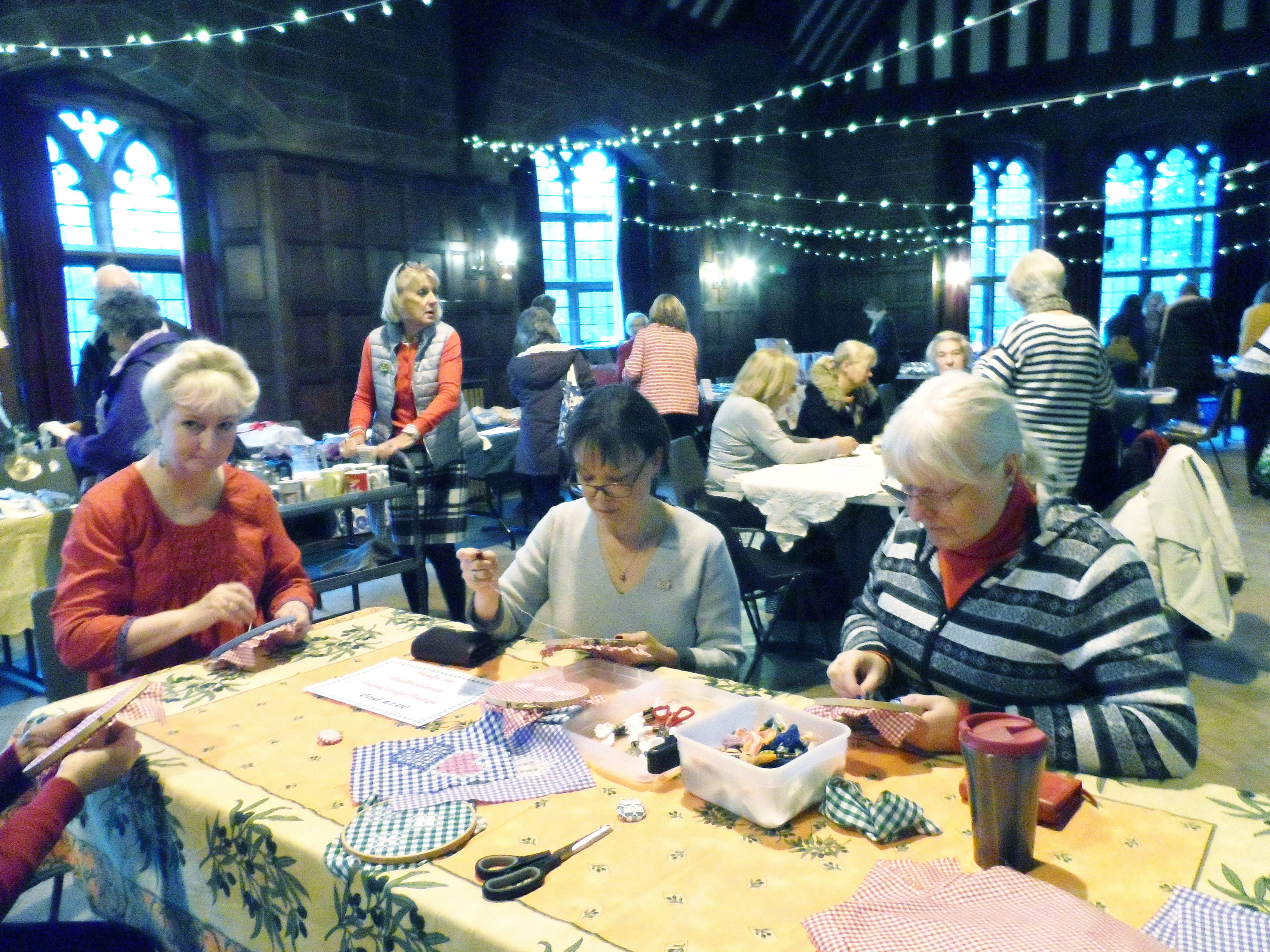 Three busy workshops at Christmas Fun Day 2018