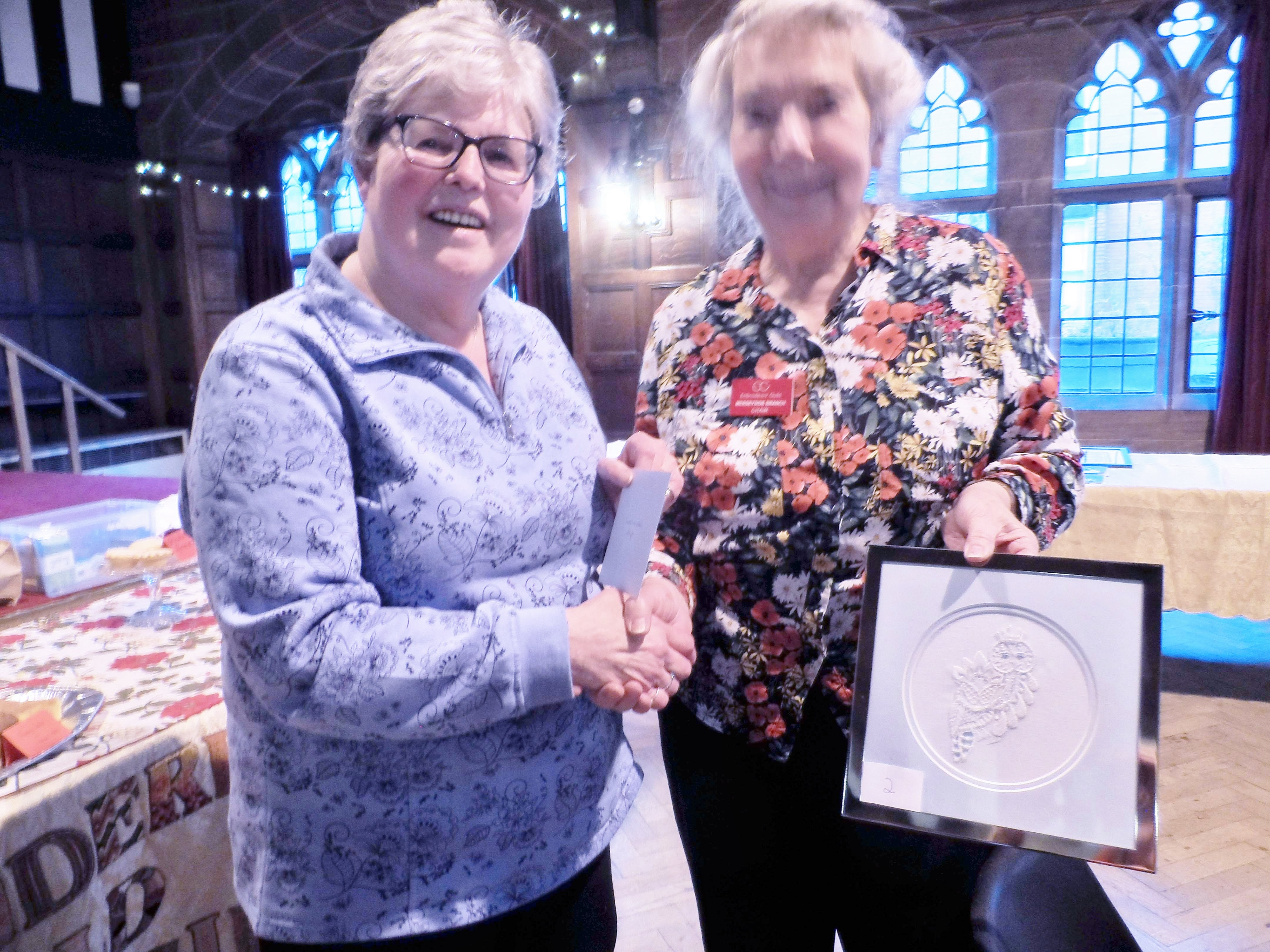 Hilary McCormack, winner of 2018 Traditional Stitch comp. Christmas Fun Day 2018