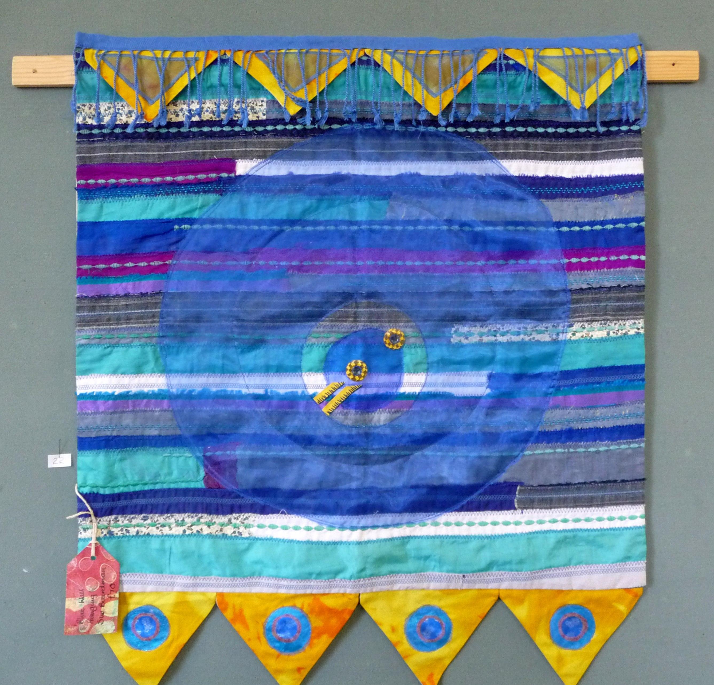 BLUE WALL HANGING by Sue Boardman