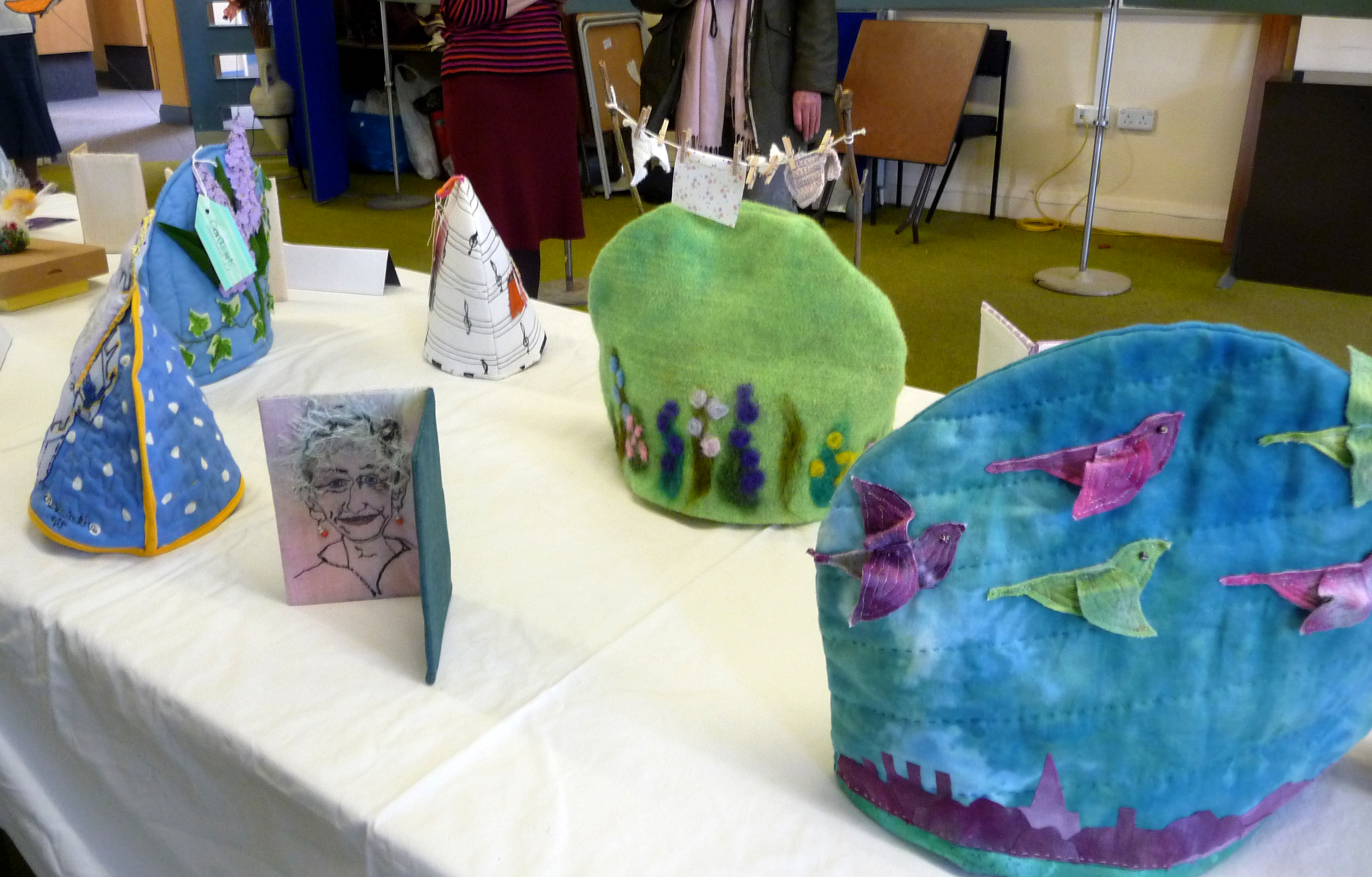 display of tea cozies by CONTEXT 2014
