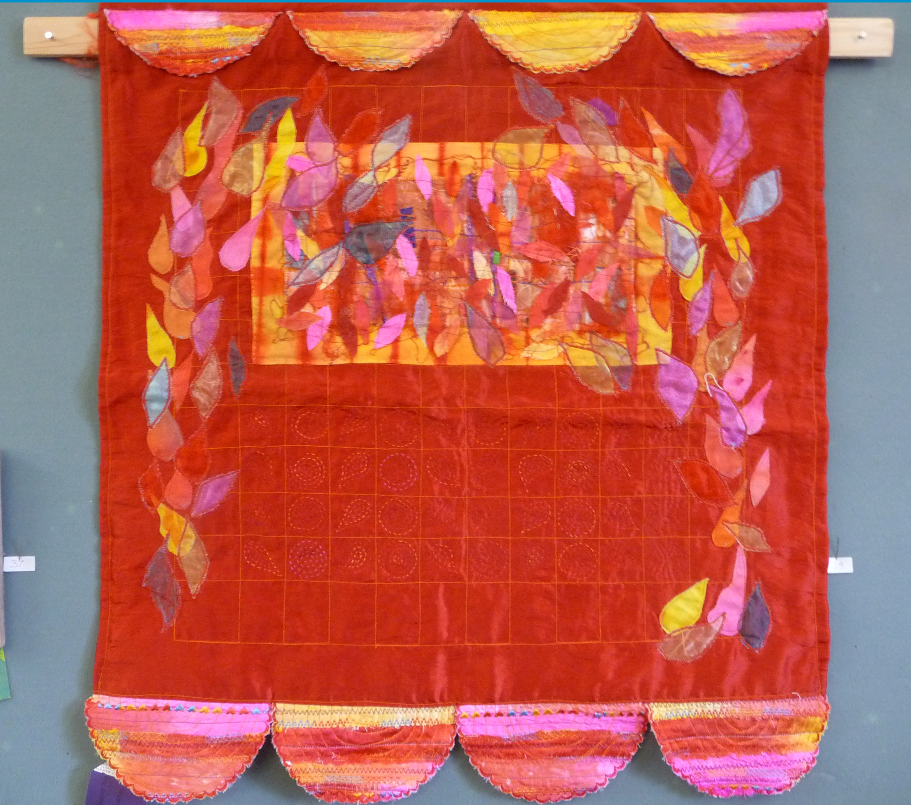 RED WALL HANGING by Sue Boardman